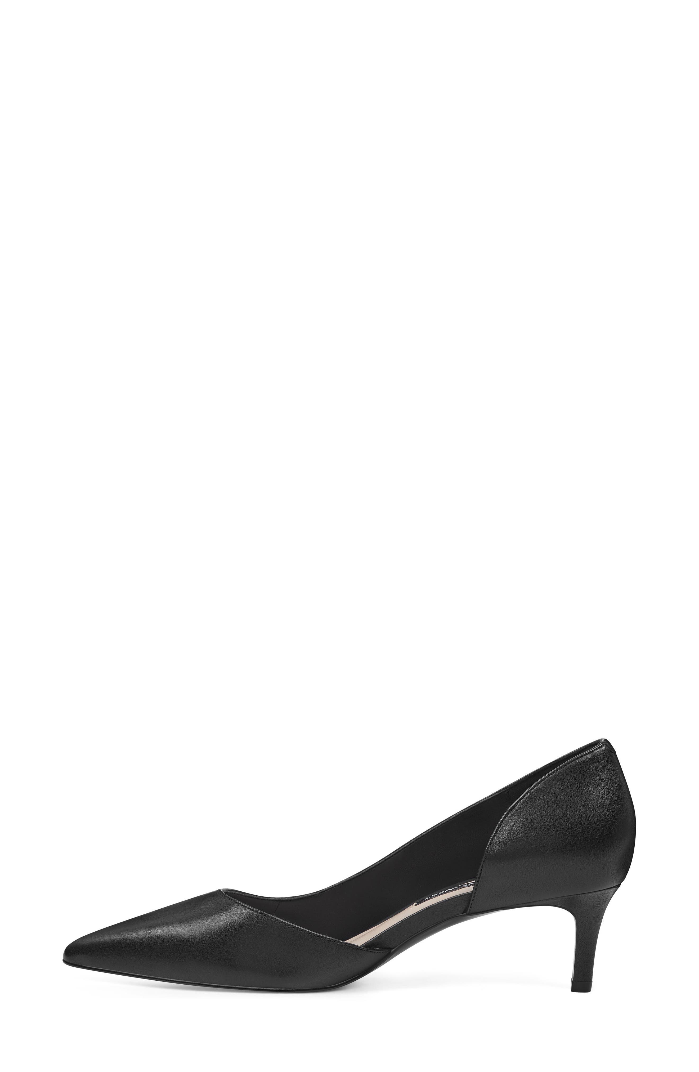 Fiacre Half d'Orsay Pump,                             Alternate thumbnail 10, color,                             BLACK LEATHER