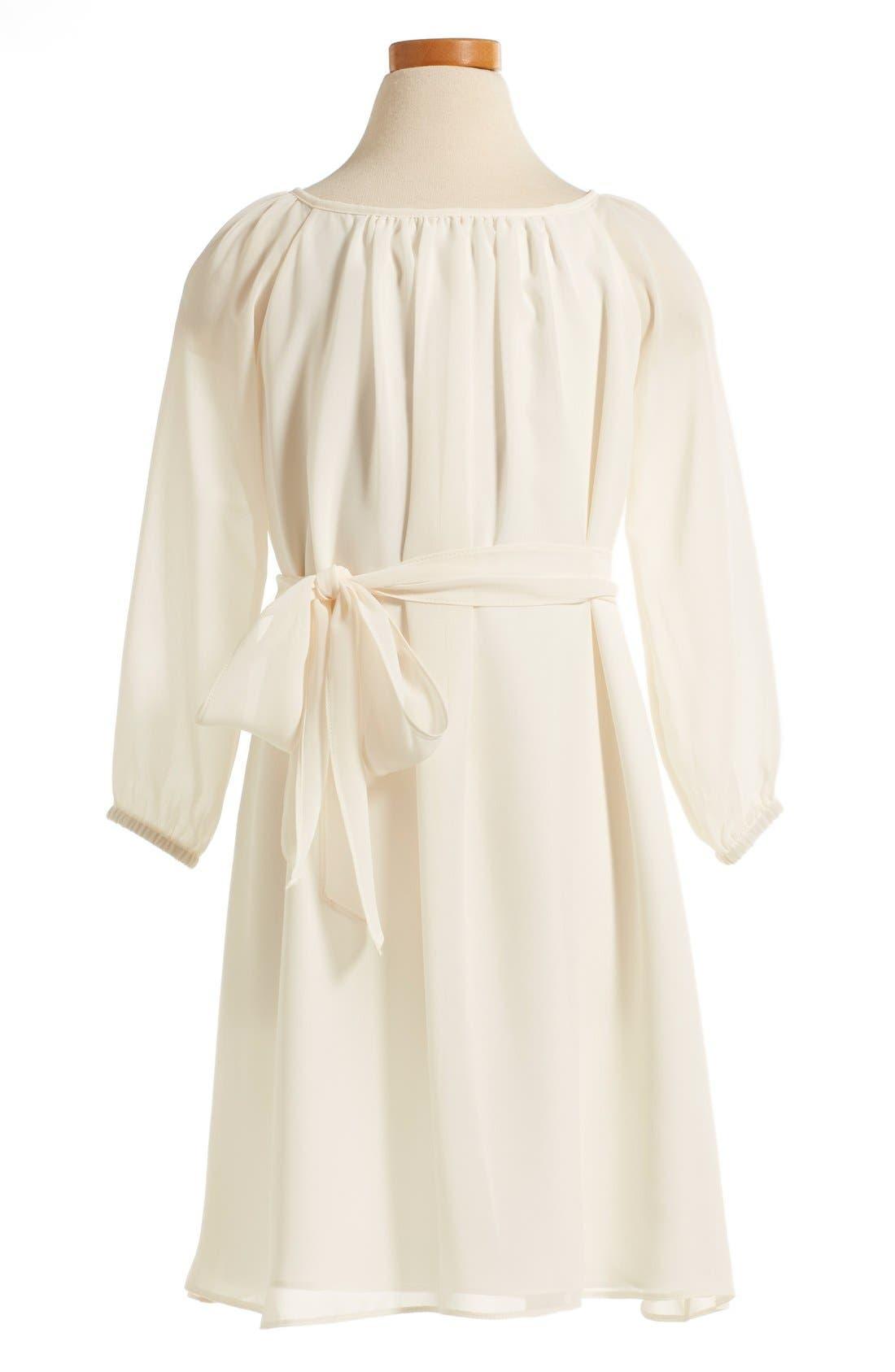 Long Sleeve Chiffon Midi Dress,                             Alternate thumbnail 2, color,                             902