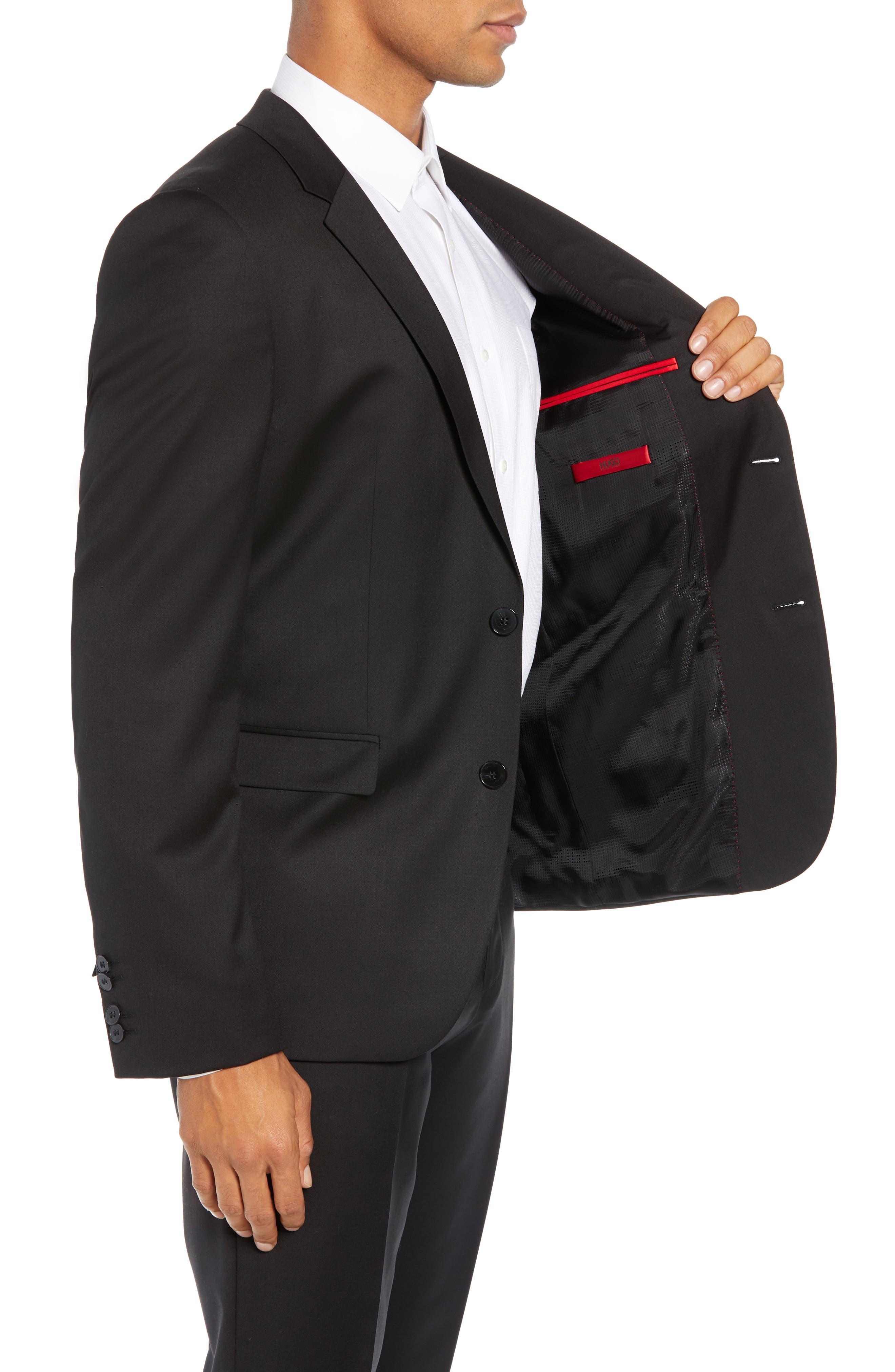 Aldon Extra Slim Fit Blazer,                             Alternate thumbnail 3, color,                             BLACK