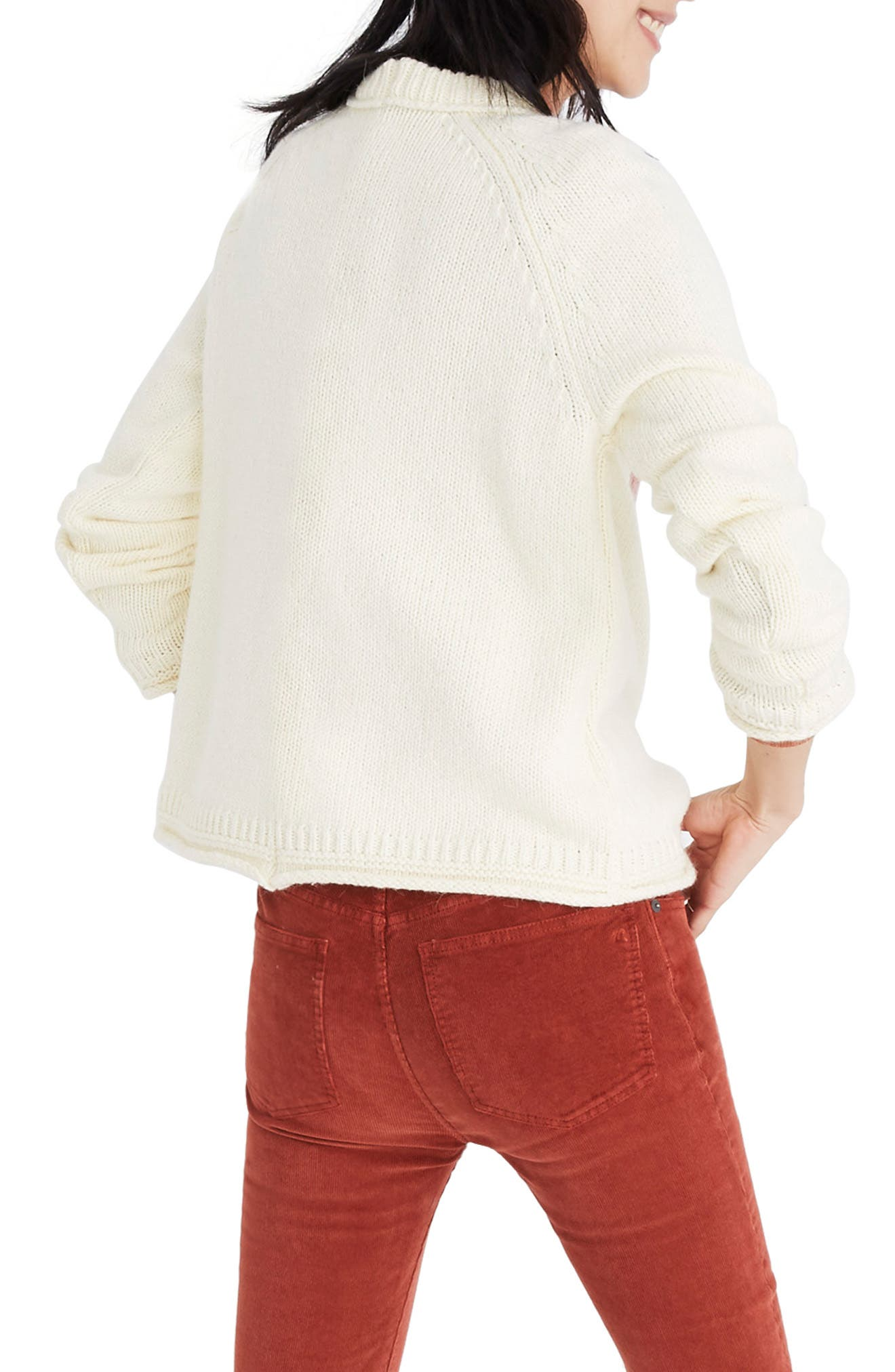 MADEWELL,                             Keaton Heart Pullover Sweater,                             Alternate thumbnail 2, color,                             100