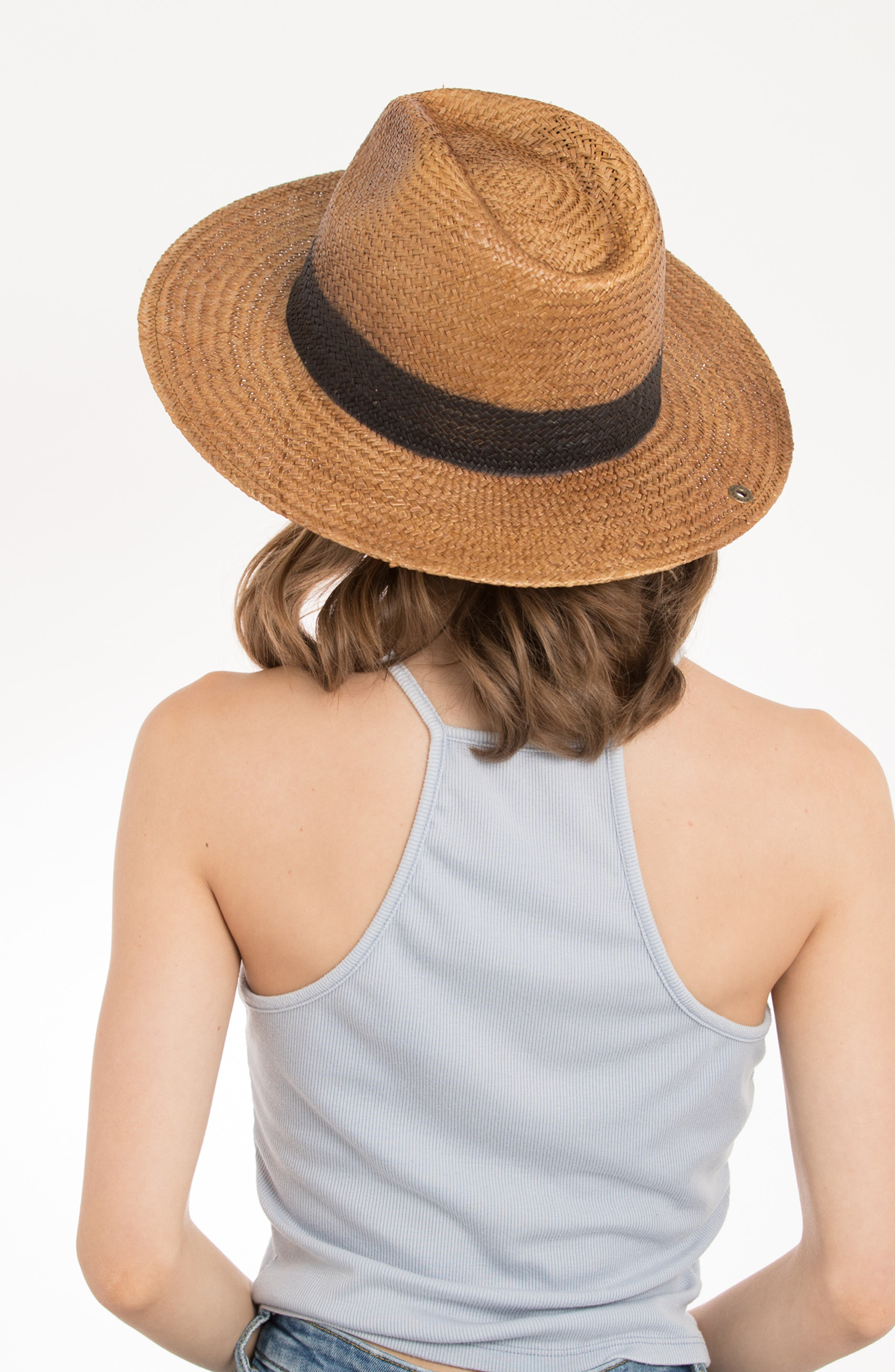 Cayenne Straw Resort Hat,                             Alternate thumbnail 4, color,                             230