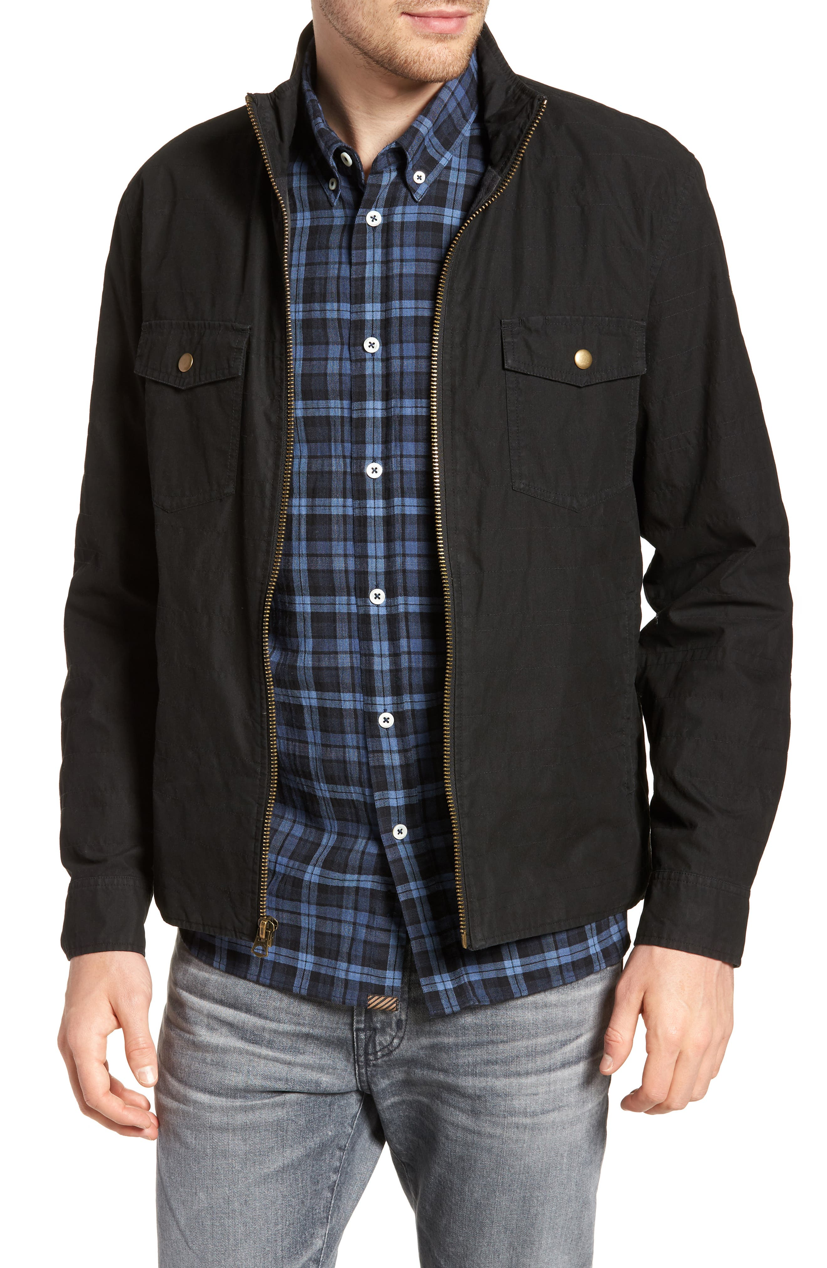 Standard Fit Shirt Jacket,                         Main,                         color, 001
