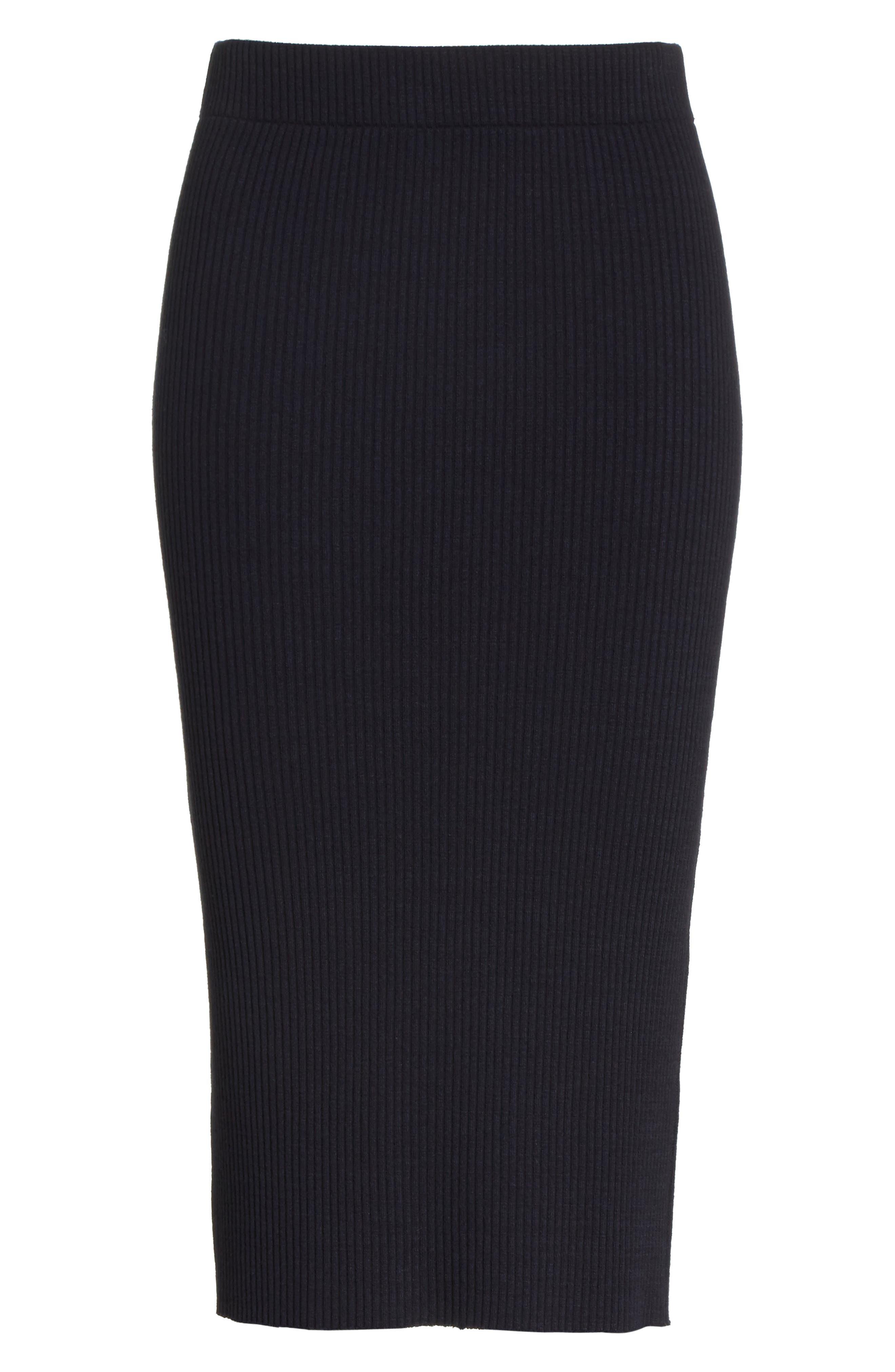 Ribbed Pencil Skirt,                             Alternate thumbnail 6, color,                             403