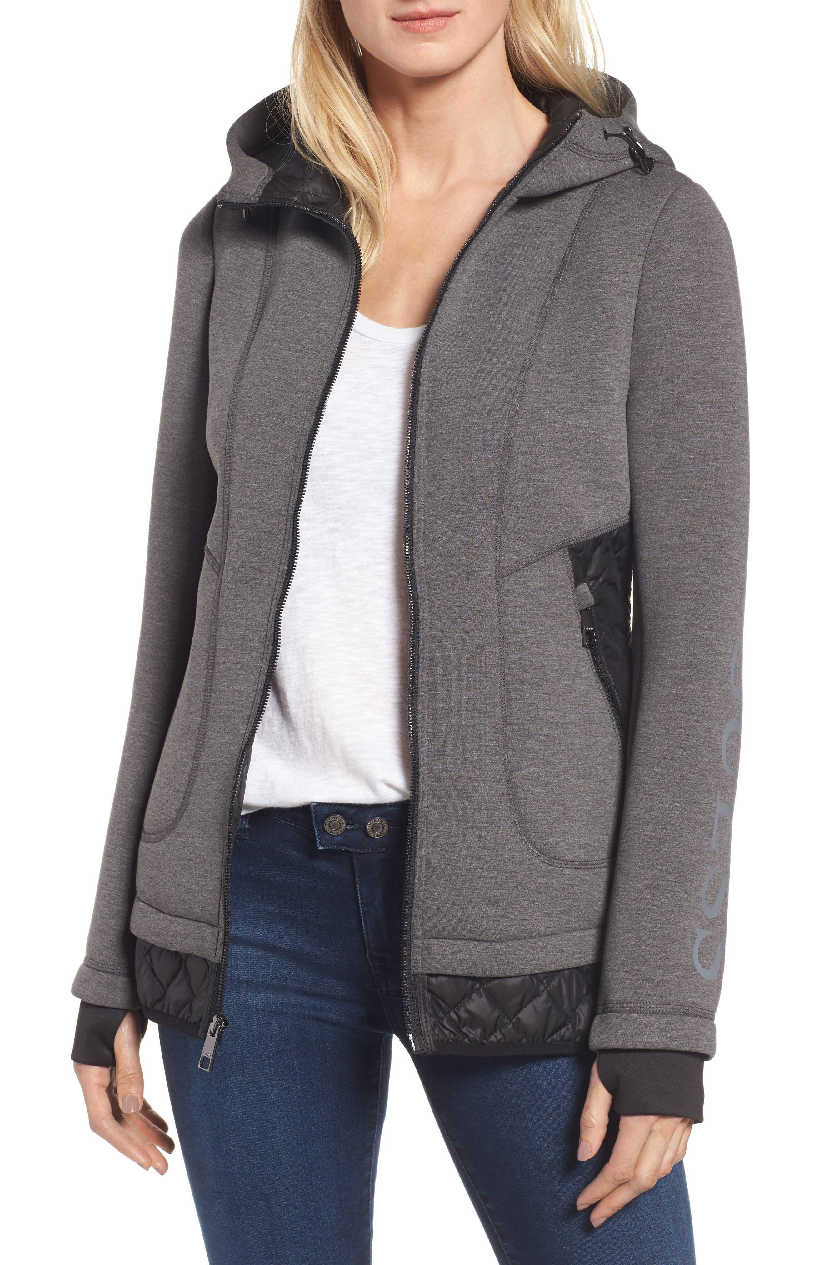 Mixed Media Hooded Jacket, Main, color, 028