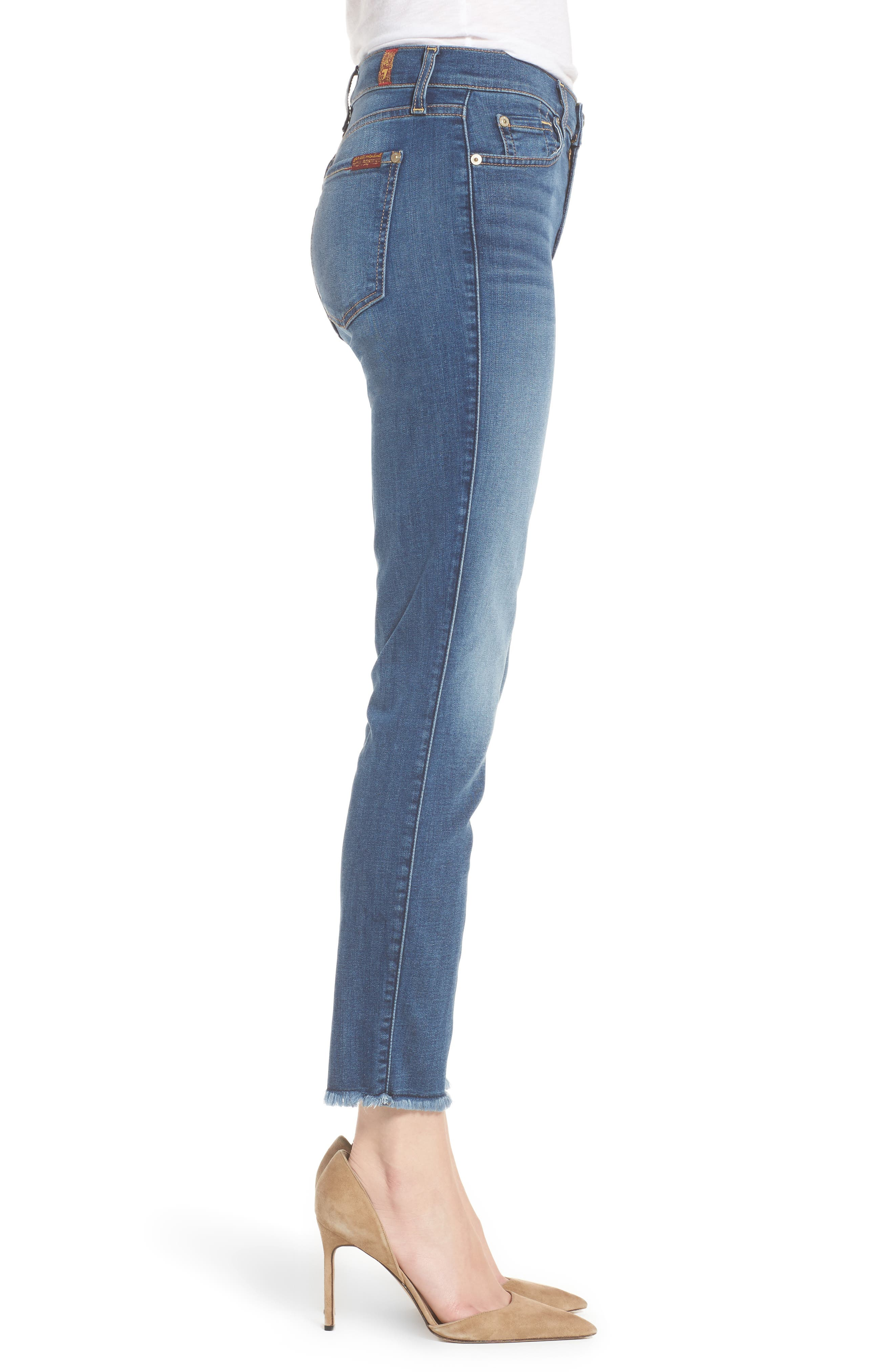 7 FOR ALL MANKIND<SUP>®</SUP>,                             b(air) Roxanne Ankle Straight Leg Jeans,                             Alternate thumbnail 3, color,                             BAIR VINTAGE DUSK