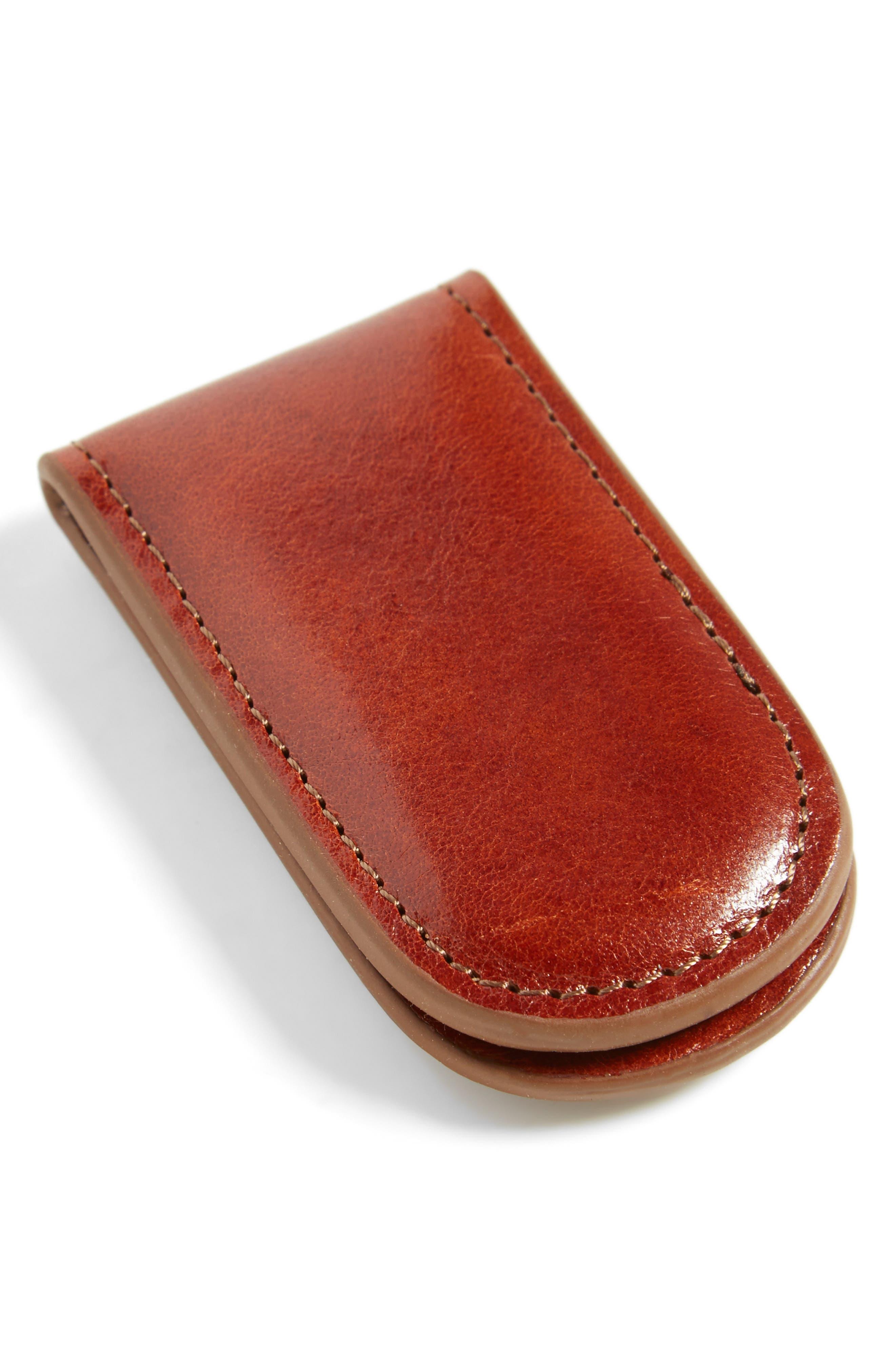 Leather Money Clip,                             Alternate thumbnail 9, color,