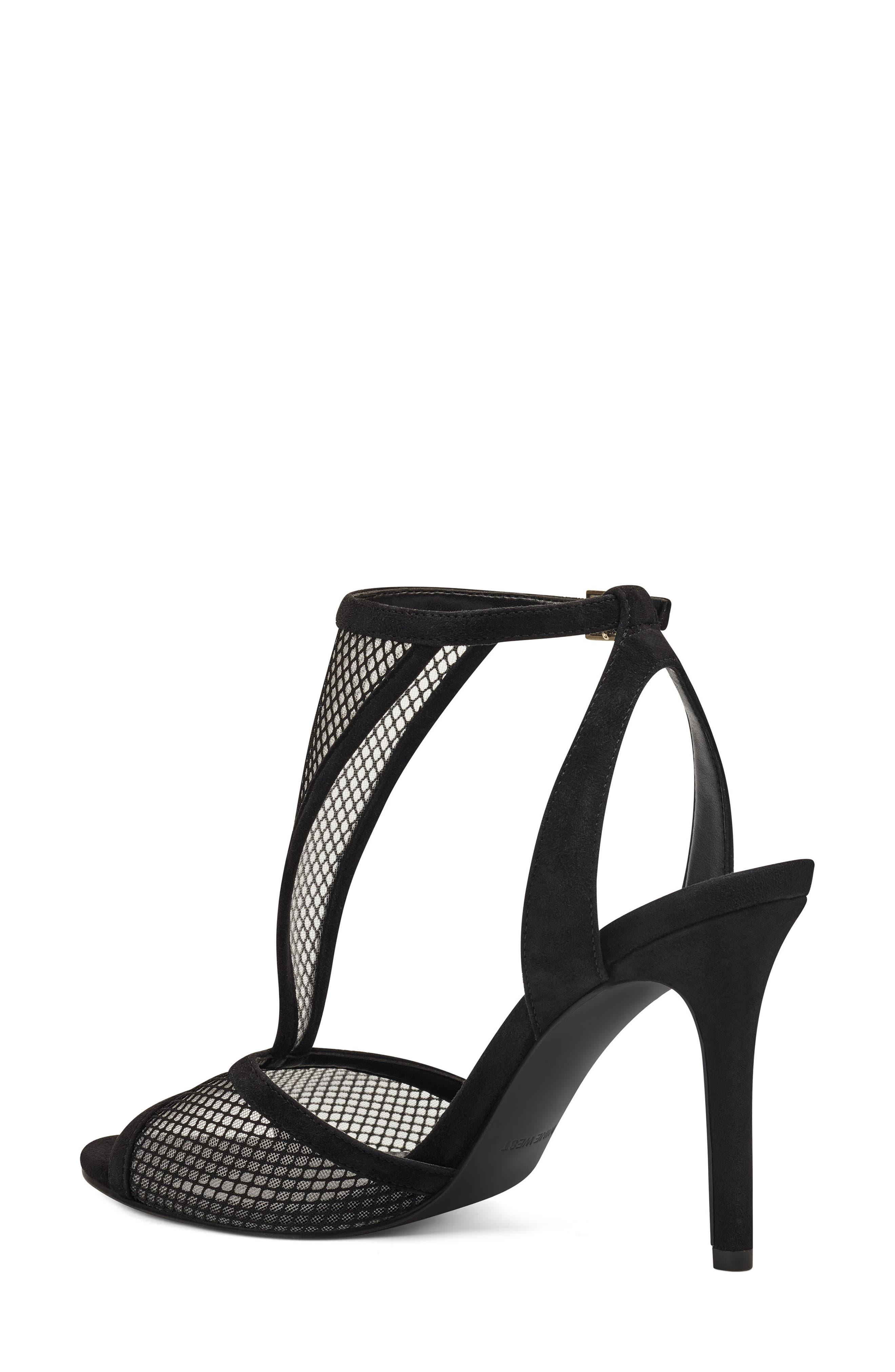 Manchon 2 Ankle Strap Sandal,                             Alternate thumbnail 2, color,                             BLACK STRETCH MESH/ LEATHER