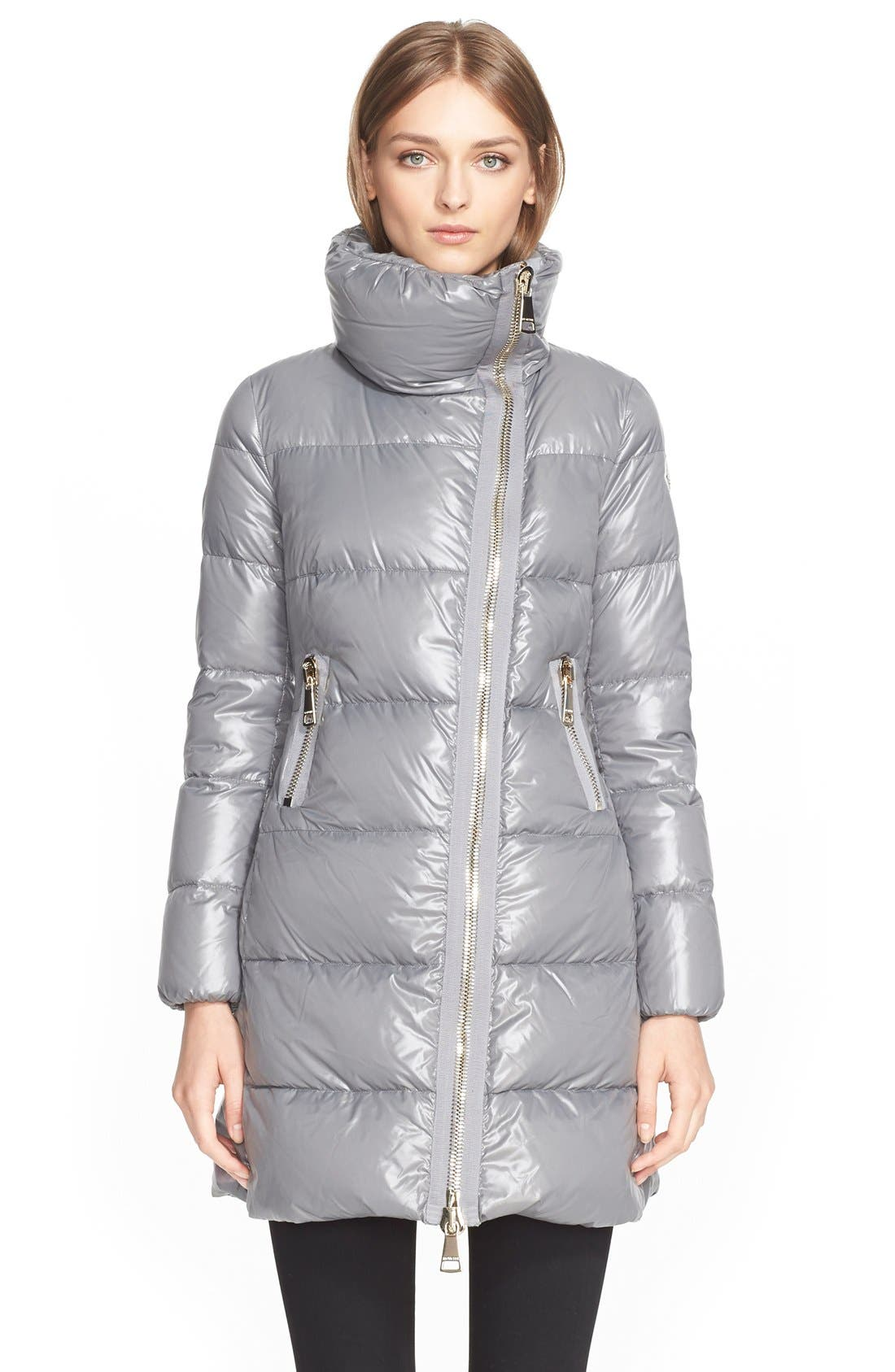 'Joinville' Water Resistant High Collar Down Puffer Coat,                             Main thumbnail 1, color,                             020