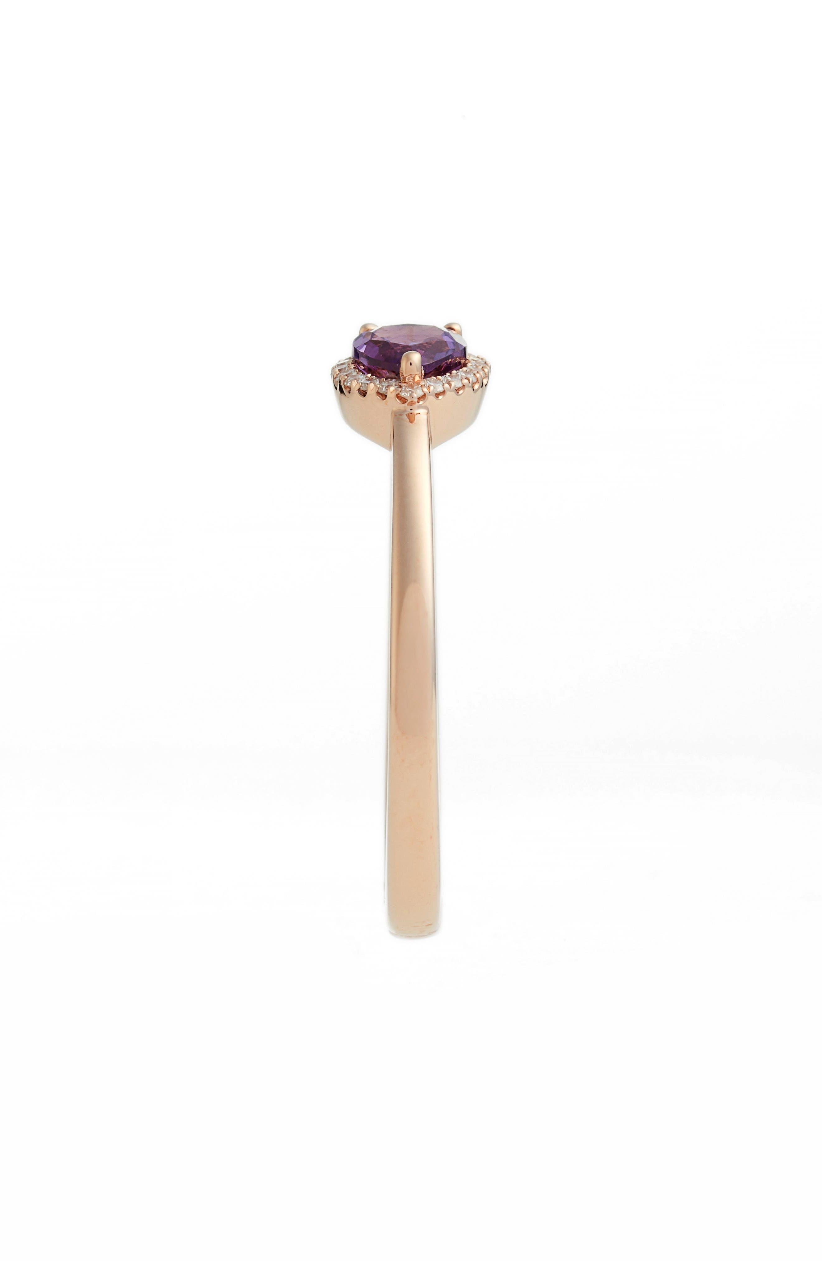 Iris Diamond & Semiprecious Stone Teardrop Ring,                             Alternate thumbnail 4, color,