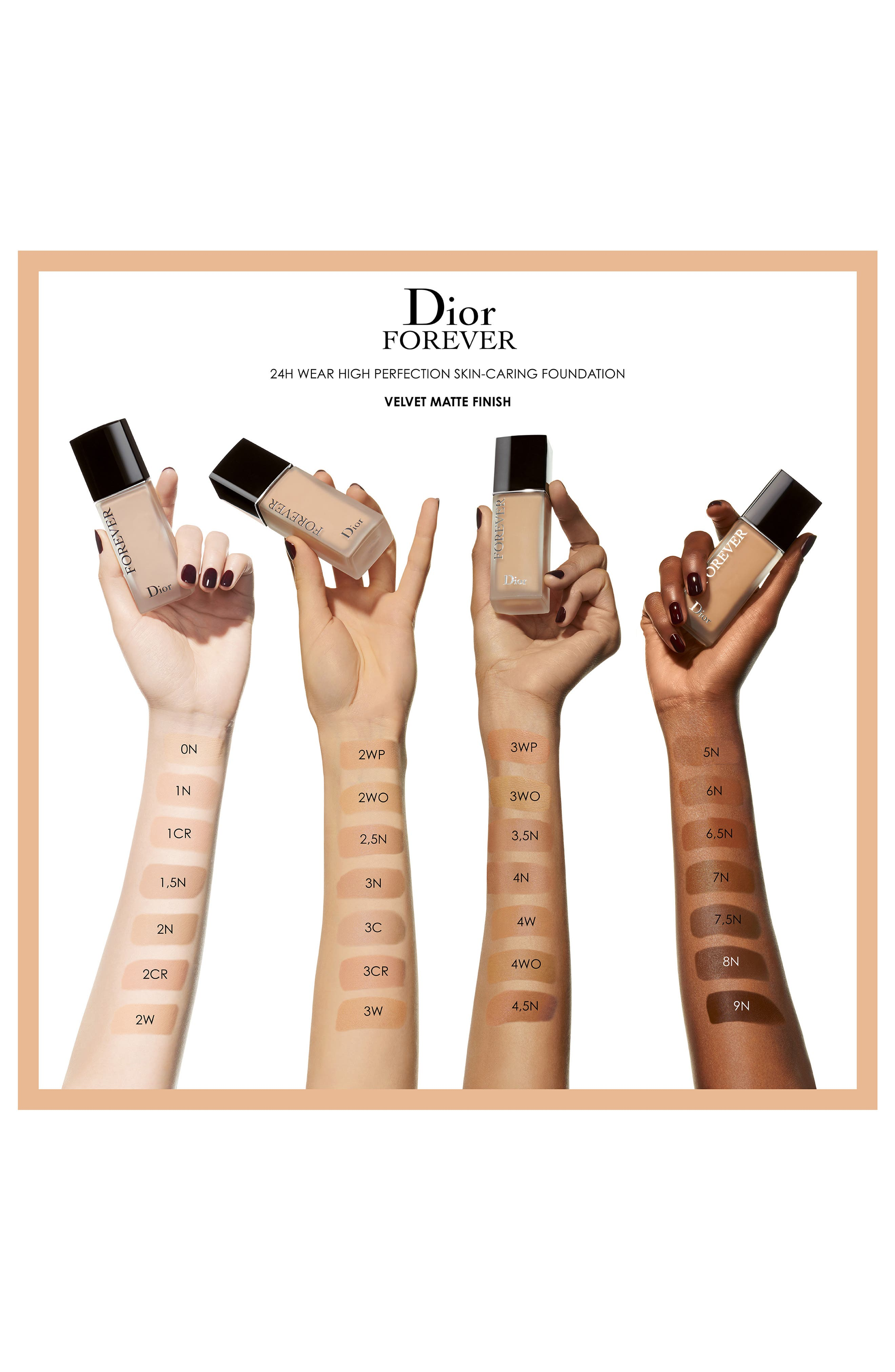 Forever Wear High Perfection Skin-Caring Matte Foundation SPF 35,                             Alternate thumbnail 3, color,                             1 NEUTRAL