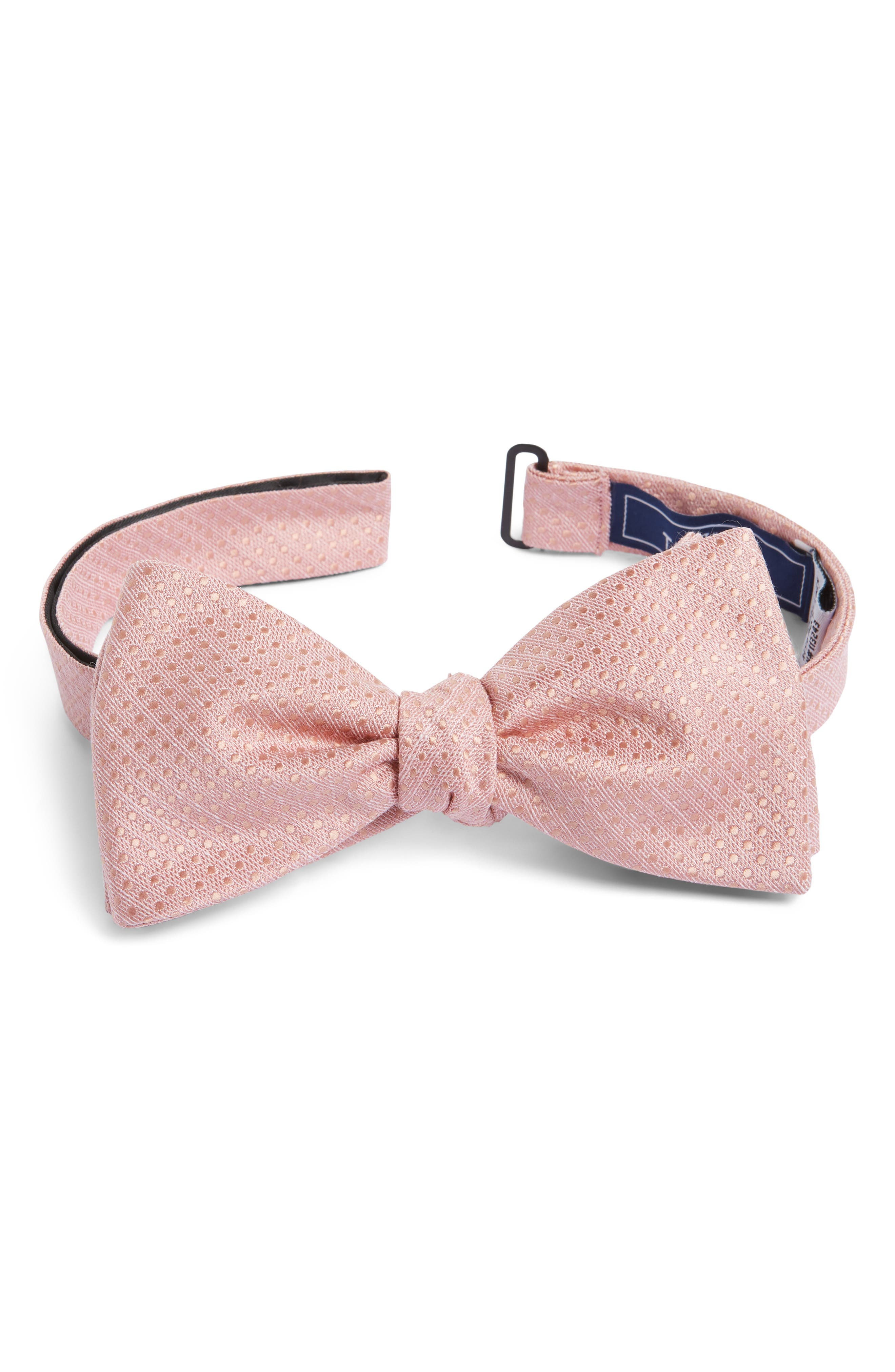 Dotted Spin Silk & Linen Bow Tie,                             Main thumbnail 3, color,