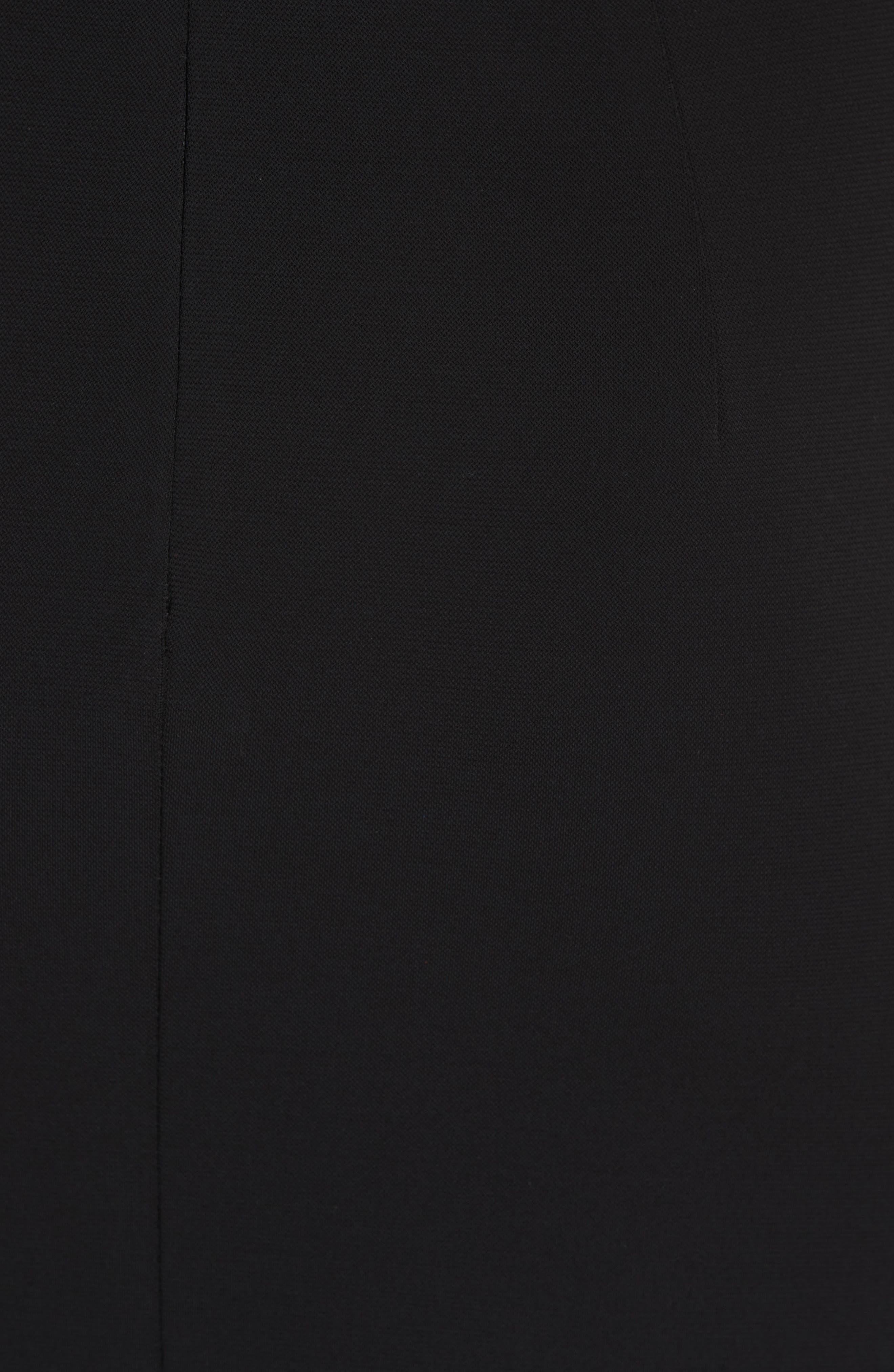 CUSHNIE,                             Cowl Neck Dress,                             Alternate thumbnail 6, color,                             BLACK