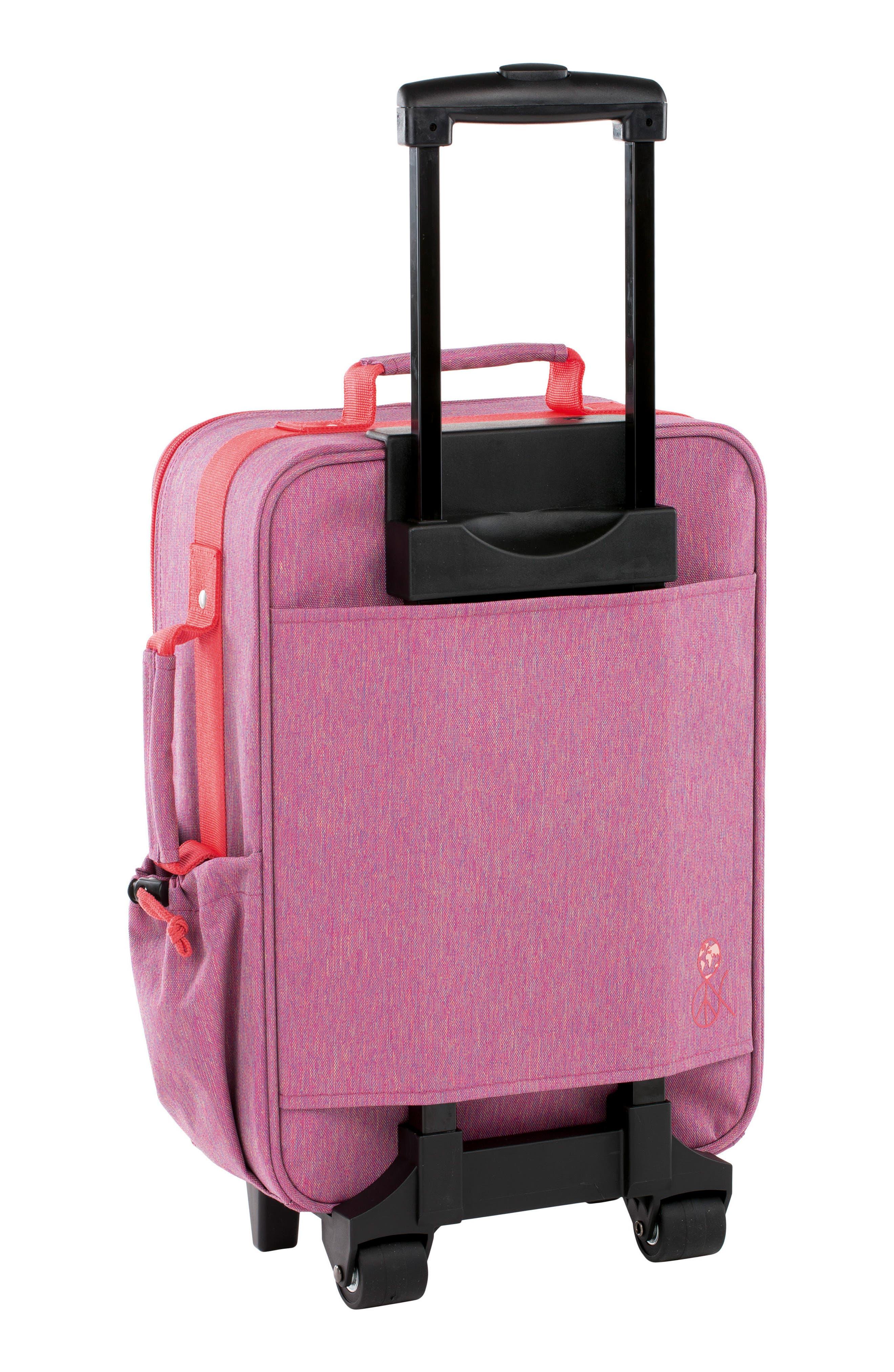 About Friends Rolling Suitcase,                             Alternate thumbnail 2, color,                             MELANGE PINK