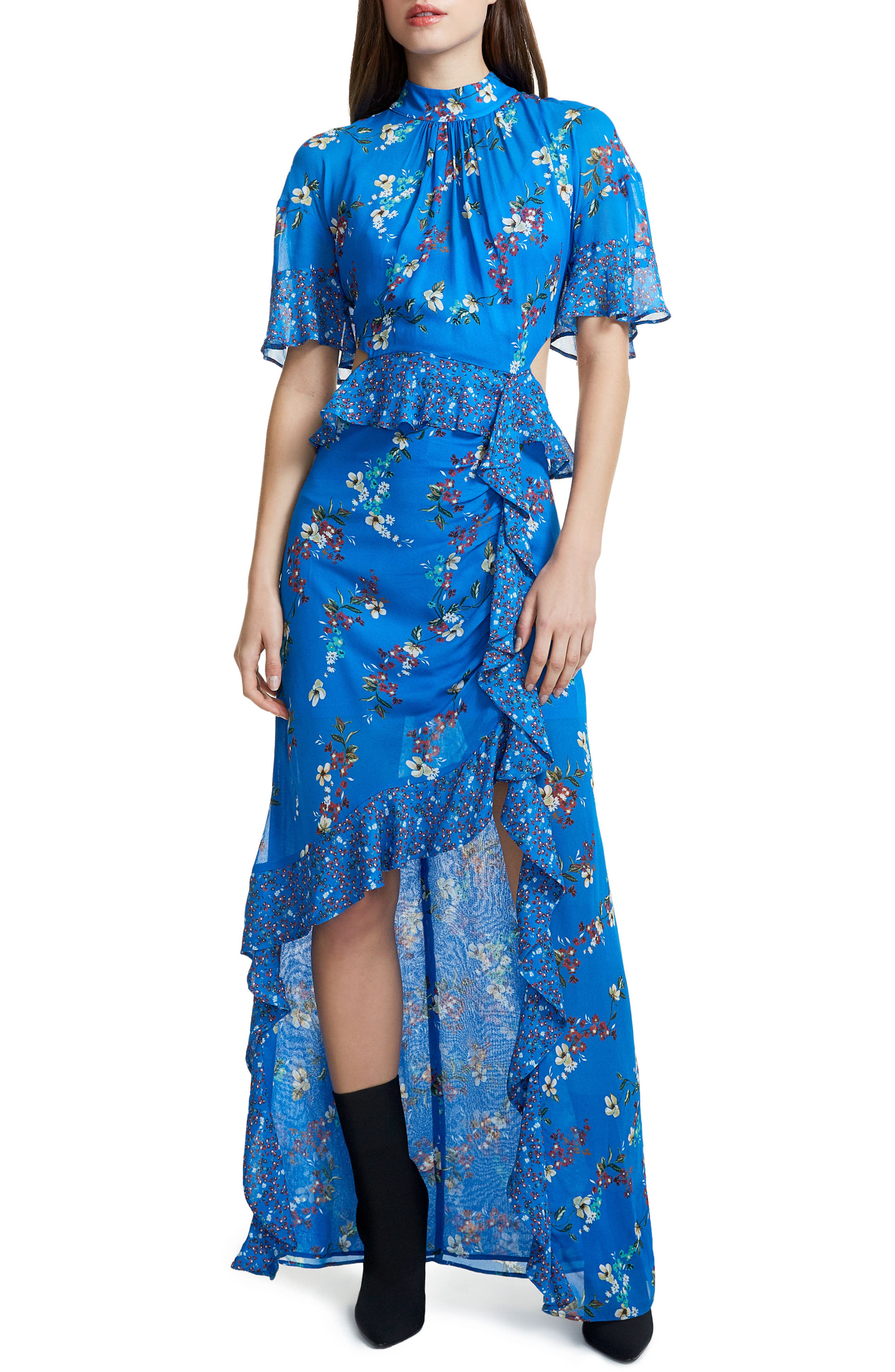 Melsa Cutout Maxi Dress,                             Main thumbnail 1, color,