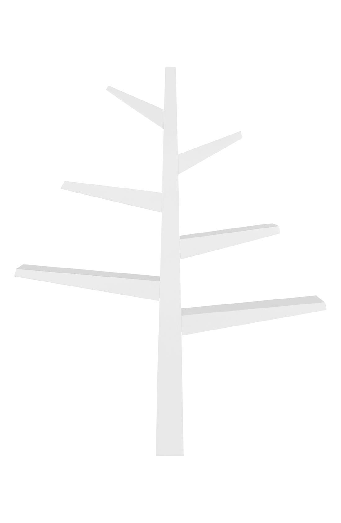 'Spruce Tree' Bookcase,                             Main thumbnail 1, color,                             WHITE