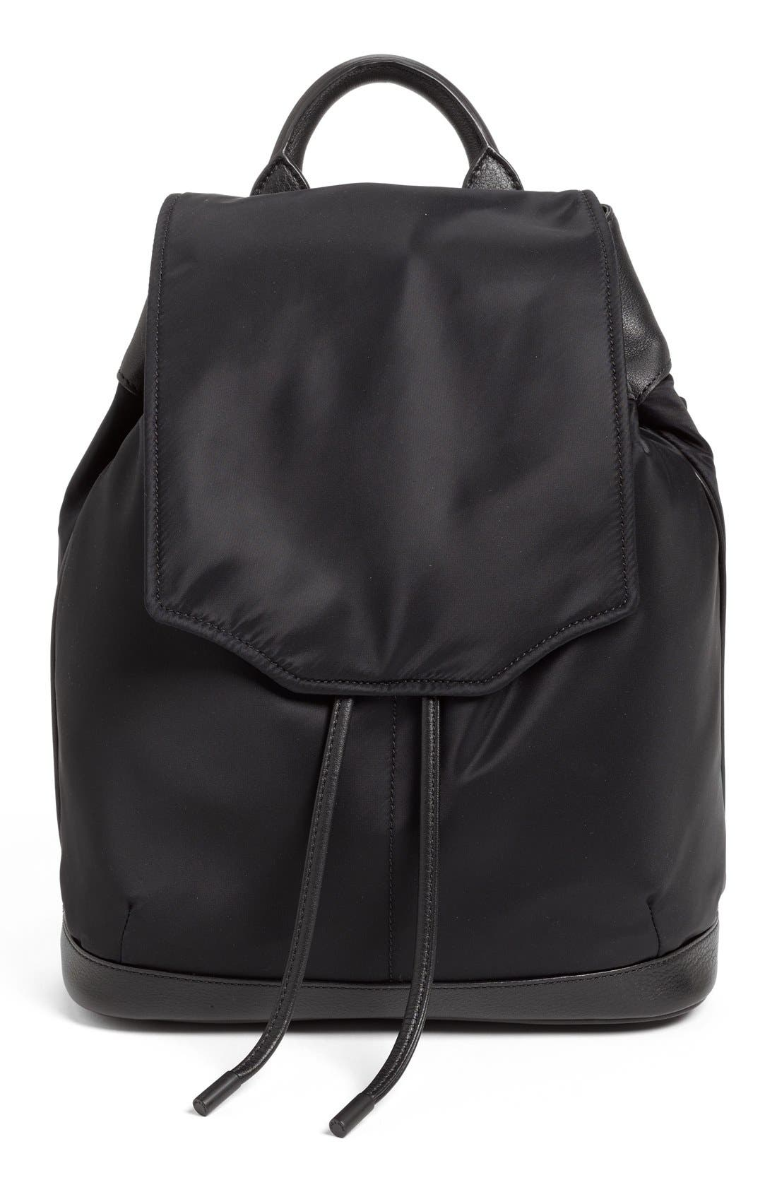 RAG & BONE 'Pilot' Nylon Backpack, Main, color, 002