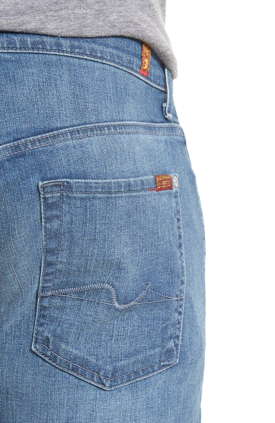 'Standard' Straight Leg Jeans,                             Alternate thumbnail 3, color,                             401
