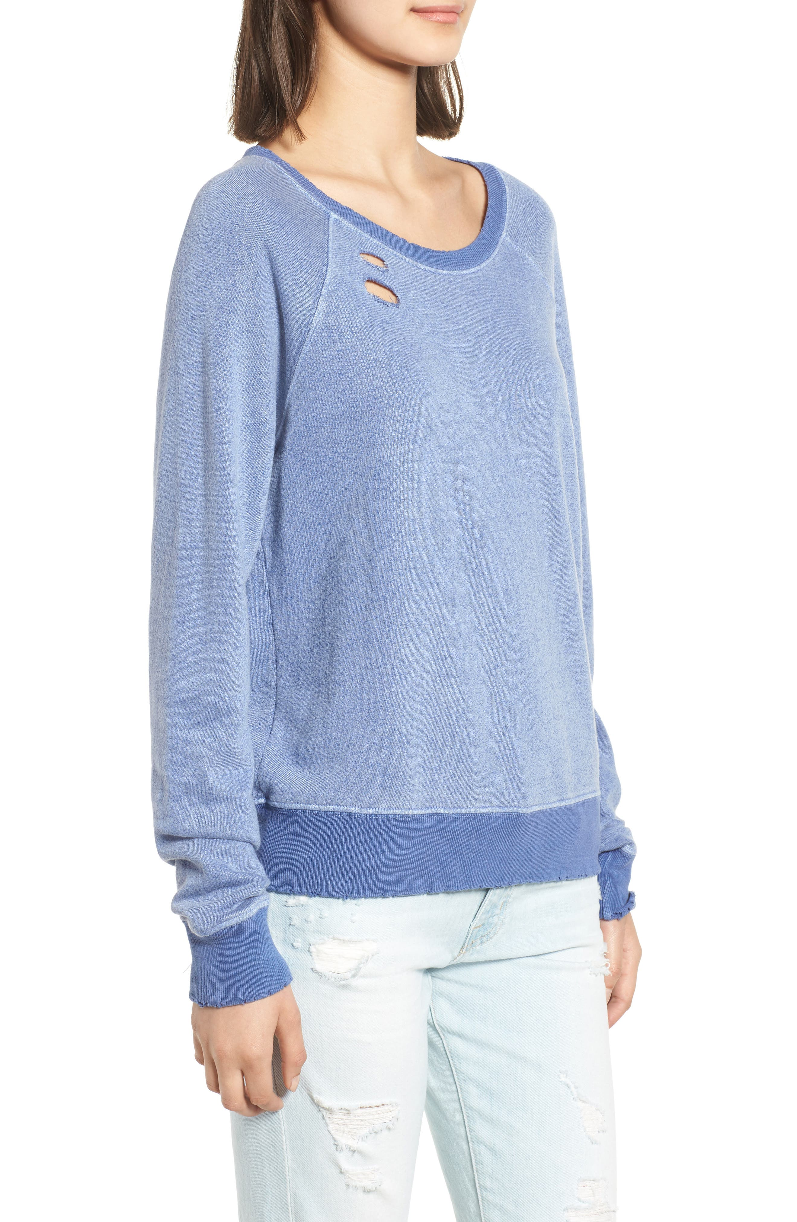 Belize Deconstructed Sweatshirt,                             Alternate thumbnail 3, color,                             COBALT