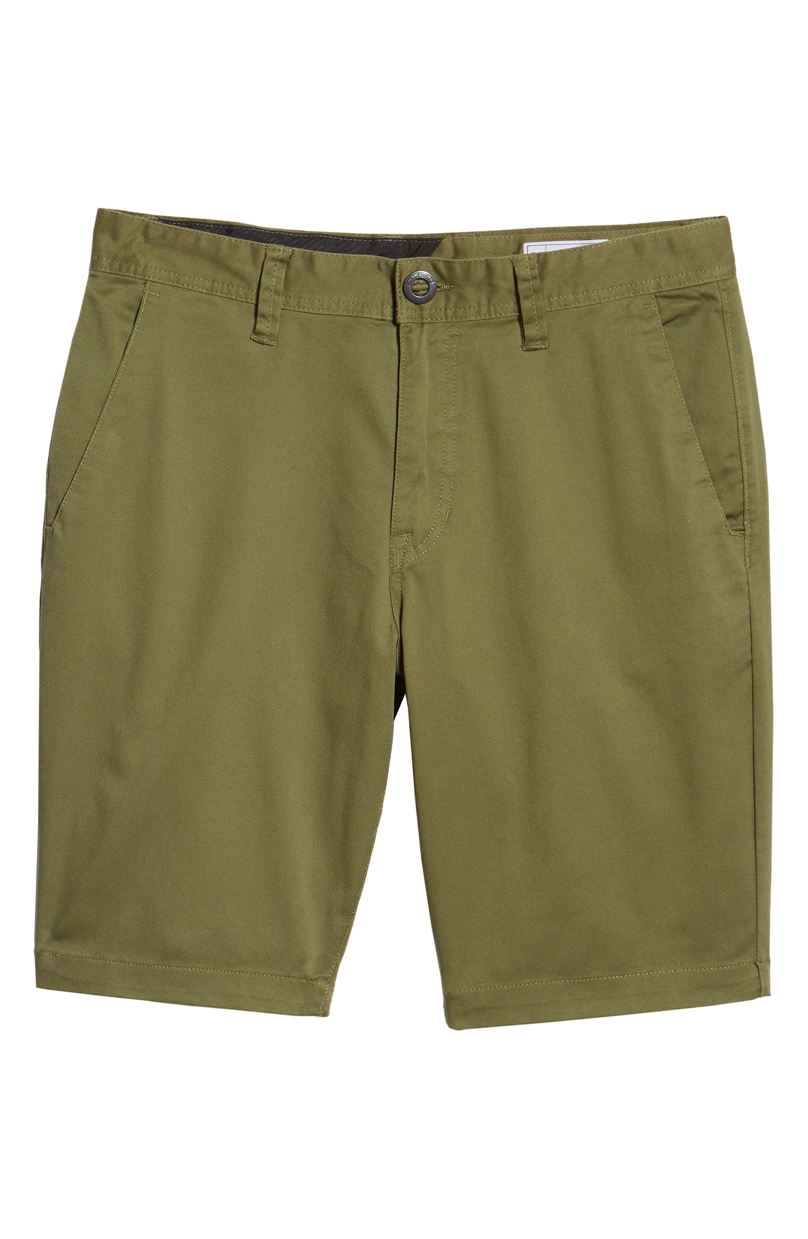 'Modern' Stretch Chino Shorts,                             Alternate thumbnail 6, color,                             VINE GREEN