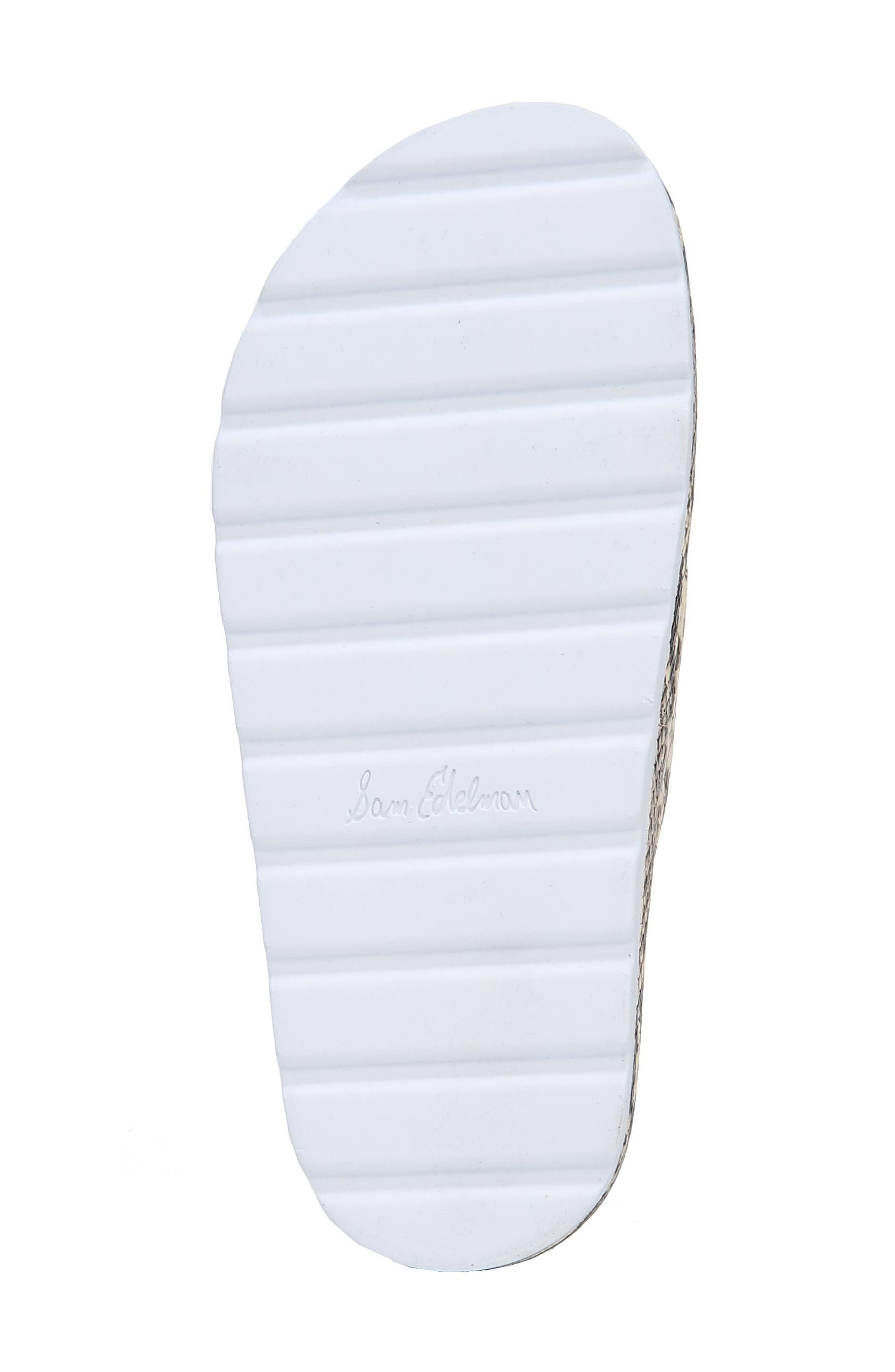 Sadia Slide Sandal,                             Alternate thumbnail 6, color,                             NATURAL SNAKE PRINT LEATHER