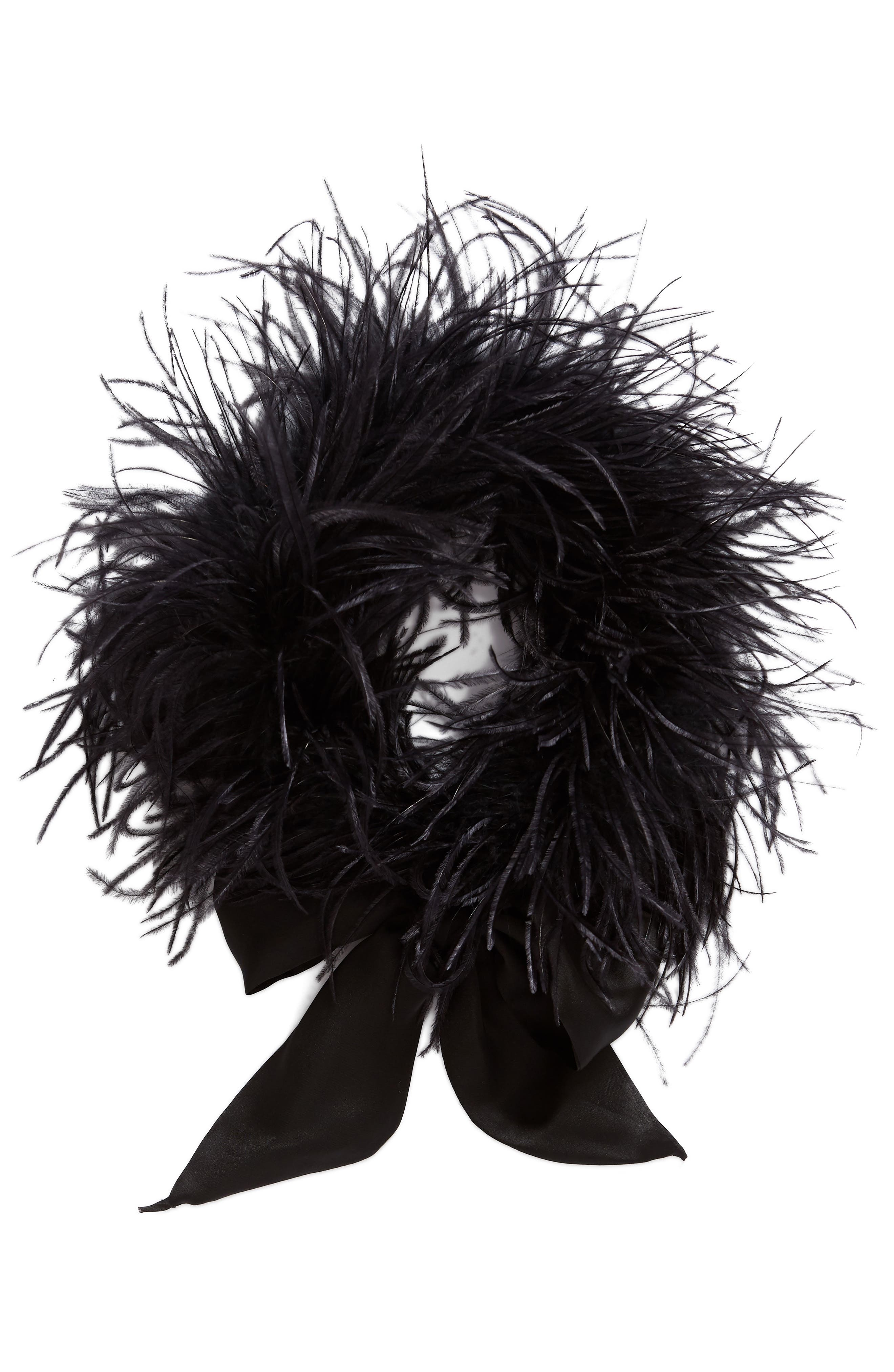 Ostrich Feather Scarf,                             Alternate thumbnail 4, color,