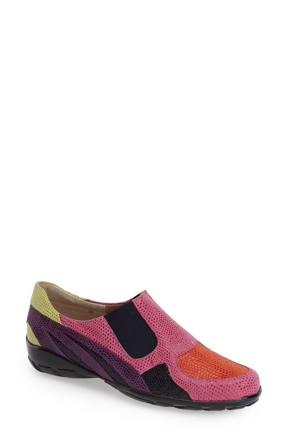 'Attie' Colorblock Slip-On Flat,                             Main thumbnail 5, color,