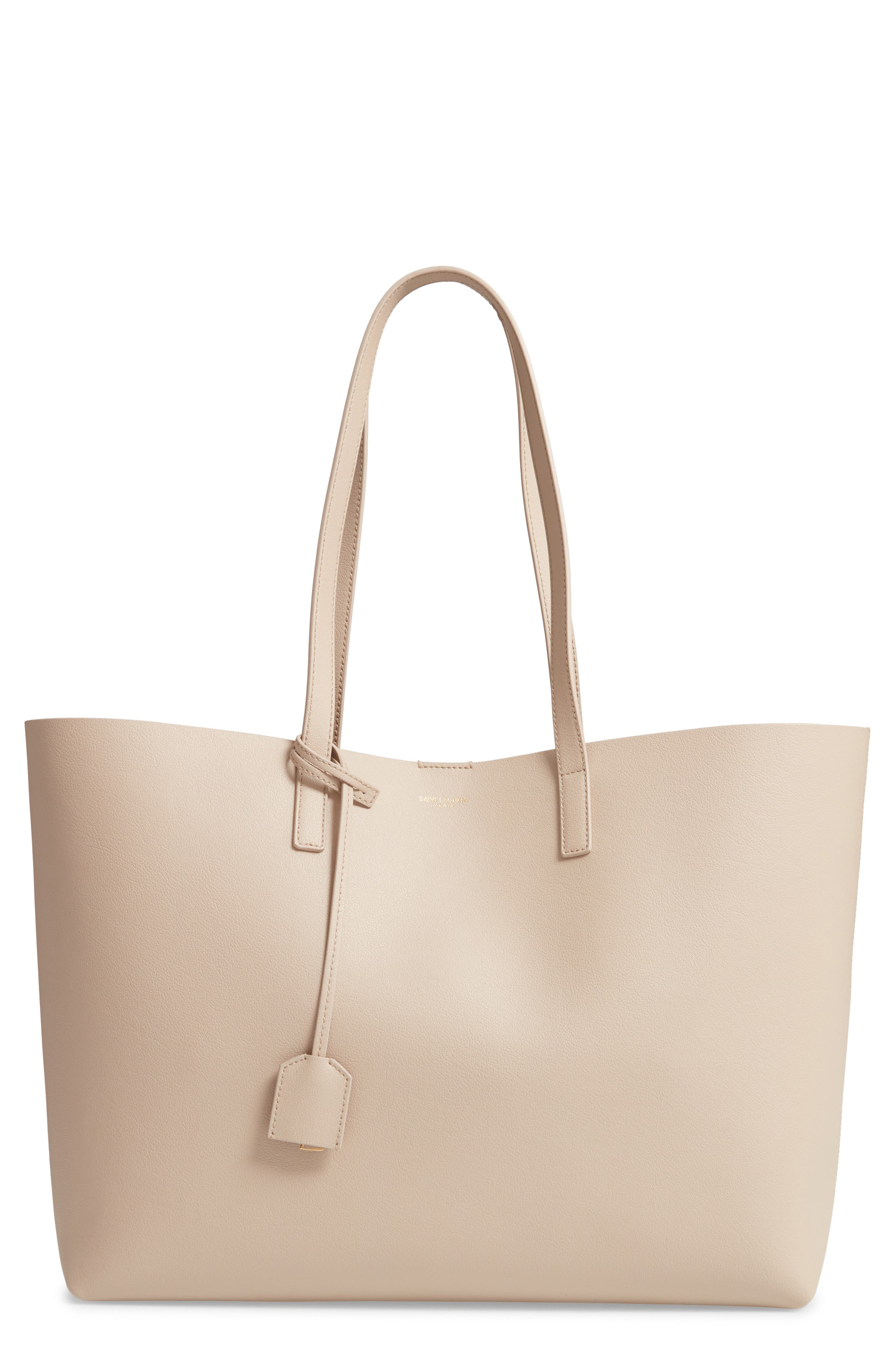 'Shopping' Leather Tote,                         Main,                         color, CREMASOFT