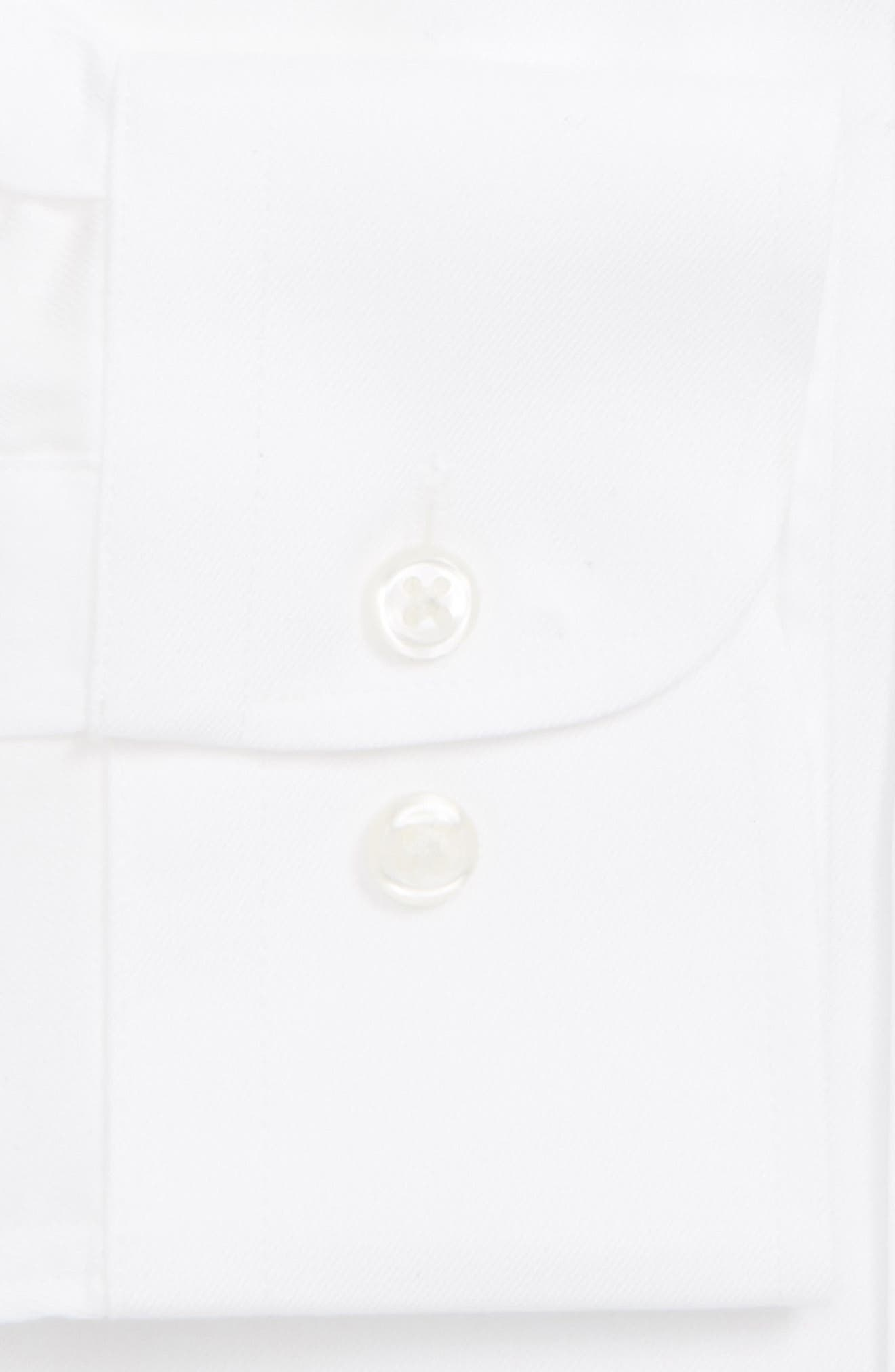 NORDSTROM MEN'S SHOP,                             Traditional Fit Solid Dress Shirt,                             Alternate thumbnail 2, color,                             WHITE
