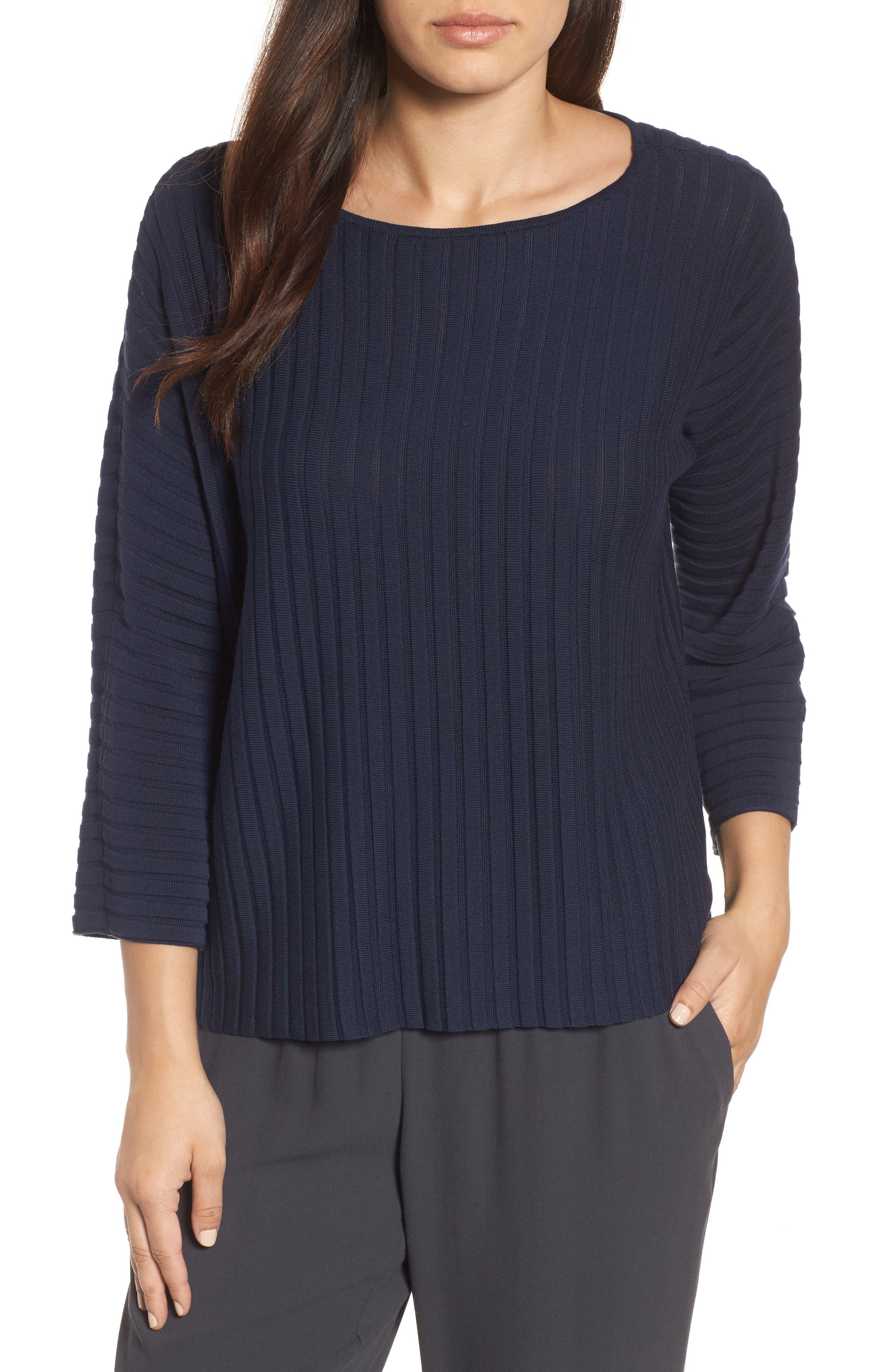 Ribbed Bateau Neck Sweater,                             Main thumbnail 4, color,
