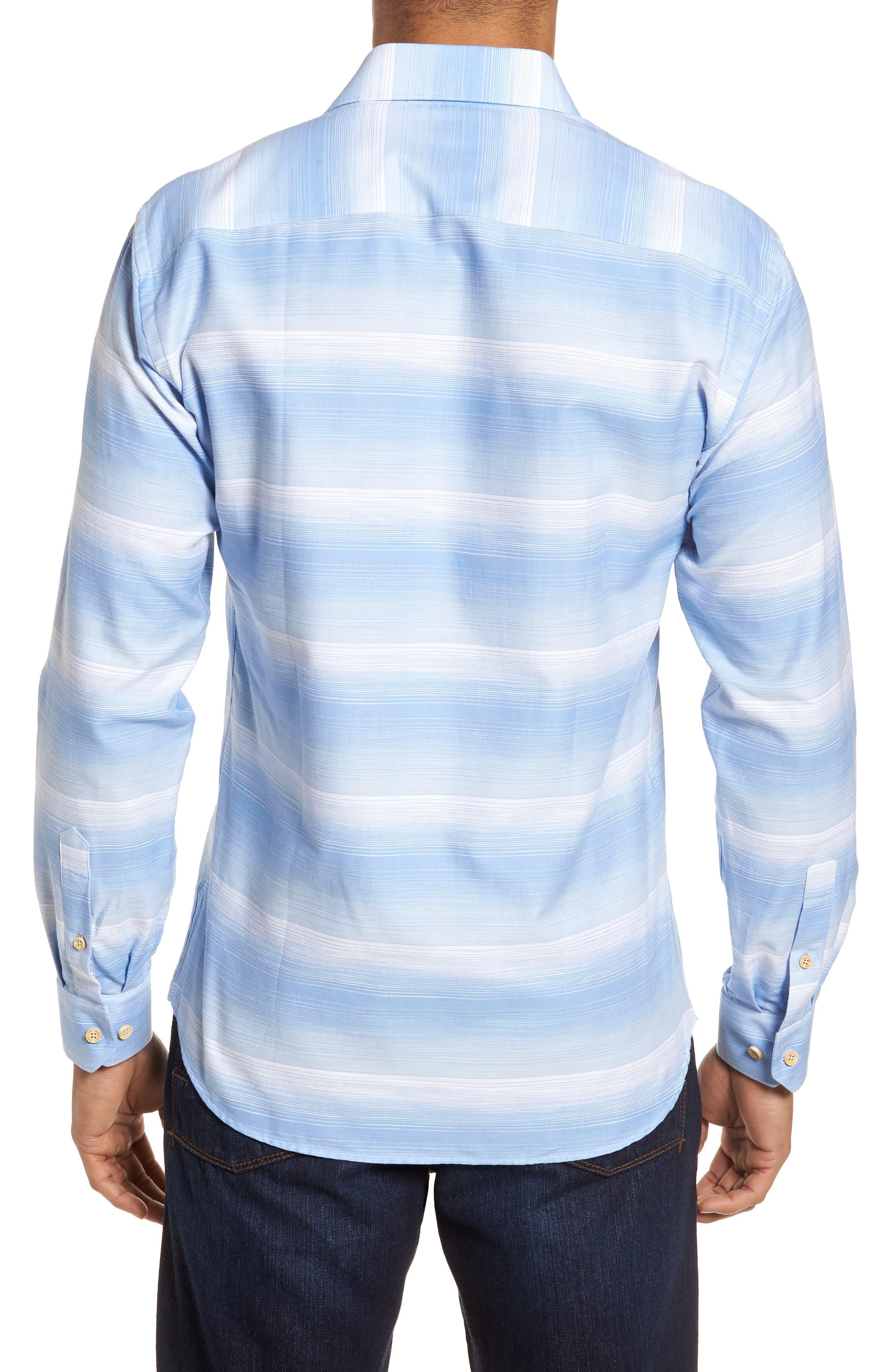Slim Fit Stripe Sport Shirt,                             Alternate thumbnail 2, color,                             455