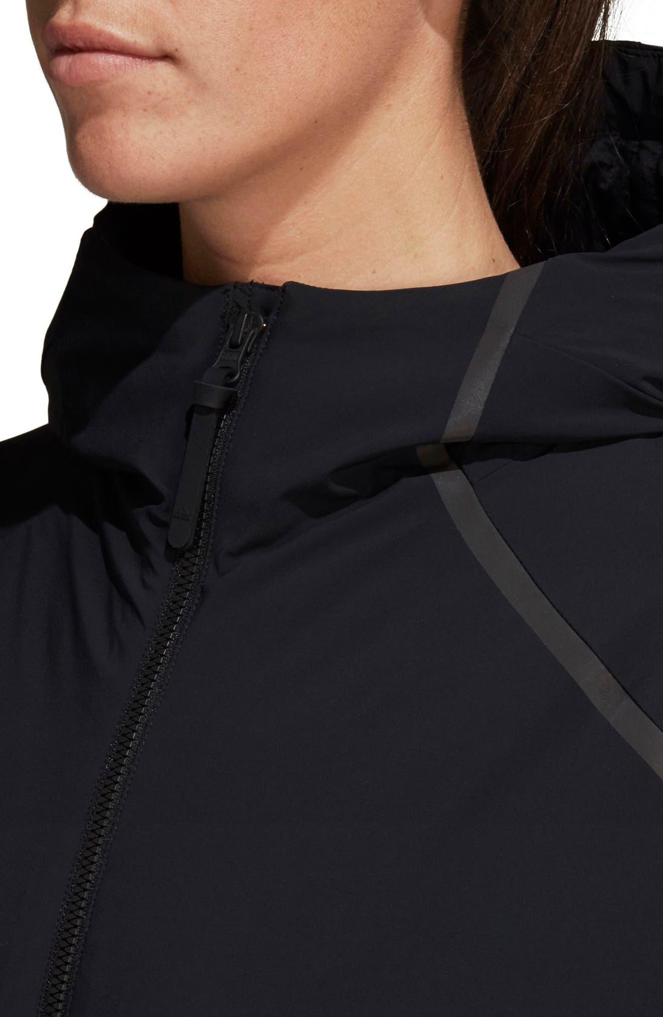 Rain Jacket,                             Alternate thumbnail 7, color,                             BLACK