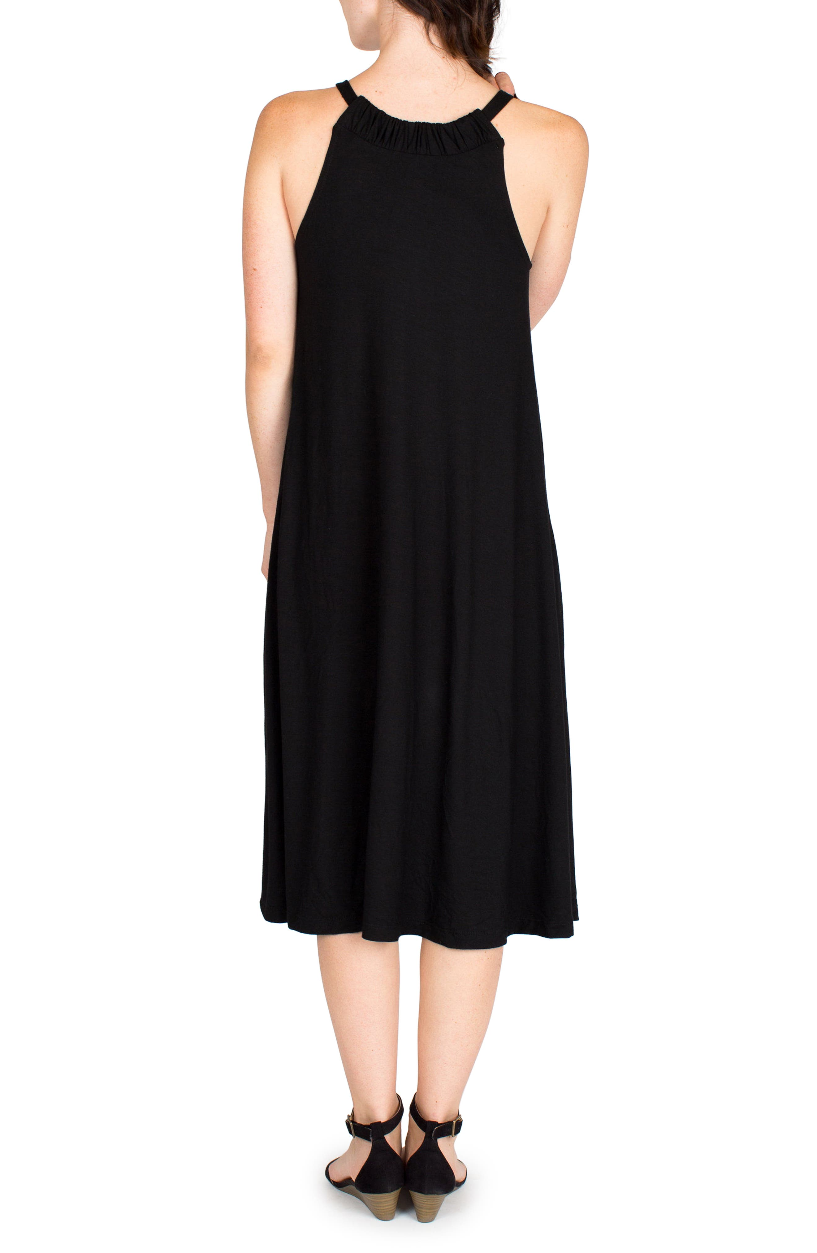 Nom Maternity Andrea Maternity Midi Dress, Black