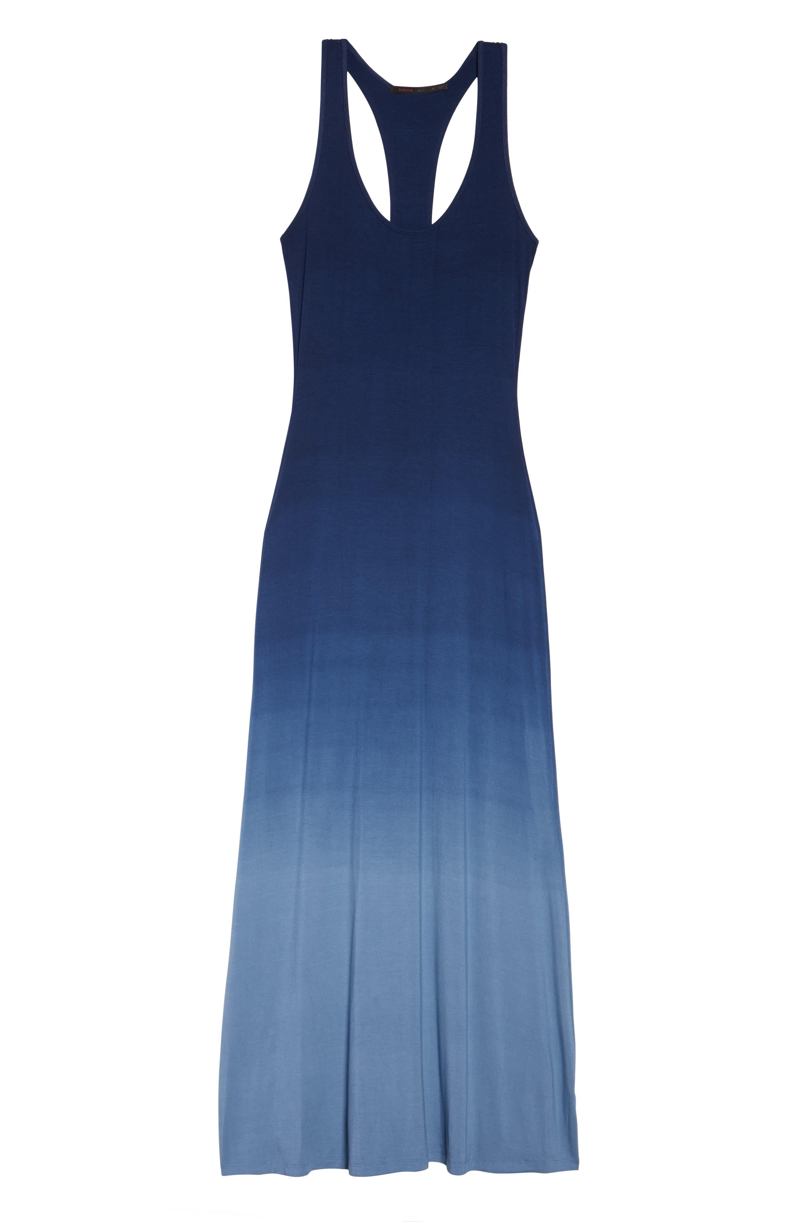 Racerback Maxi Dress,                             Alternate thumbnail 6, color,                             400