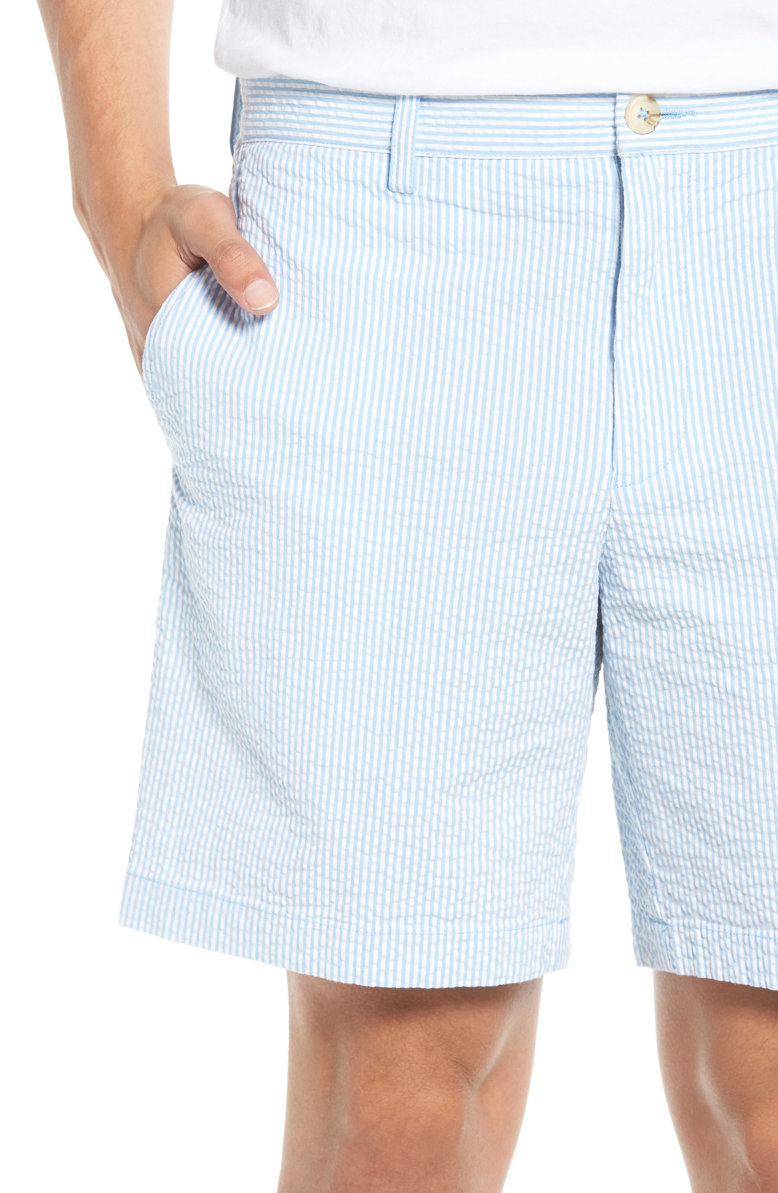 Stripe Seersucker Shorts,                             Alternate thumbnail 4, color,                             392