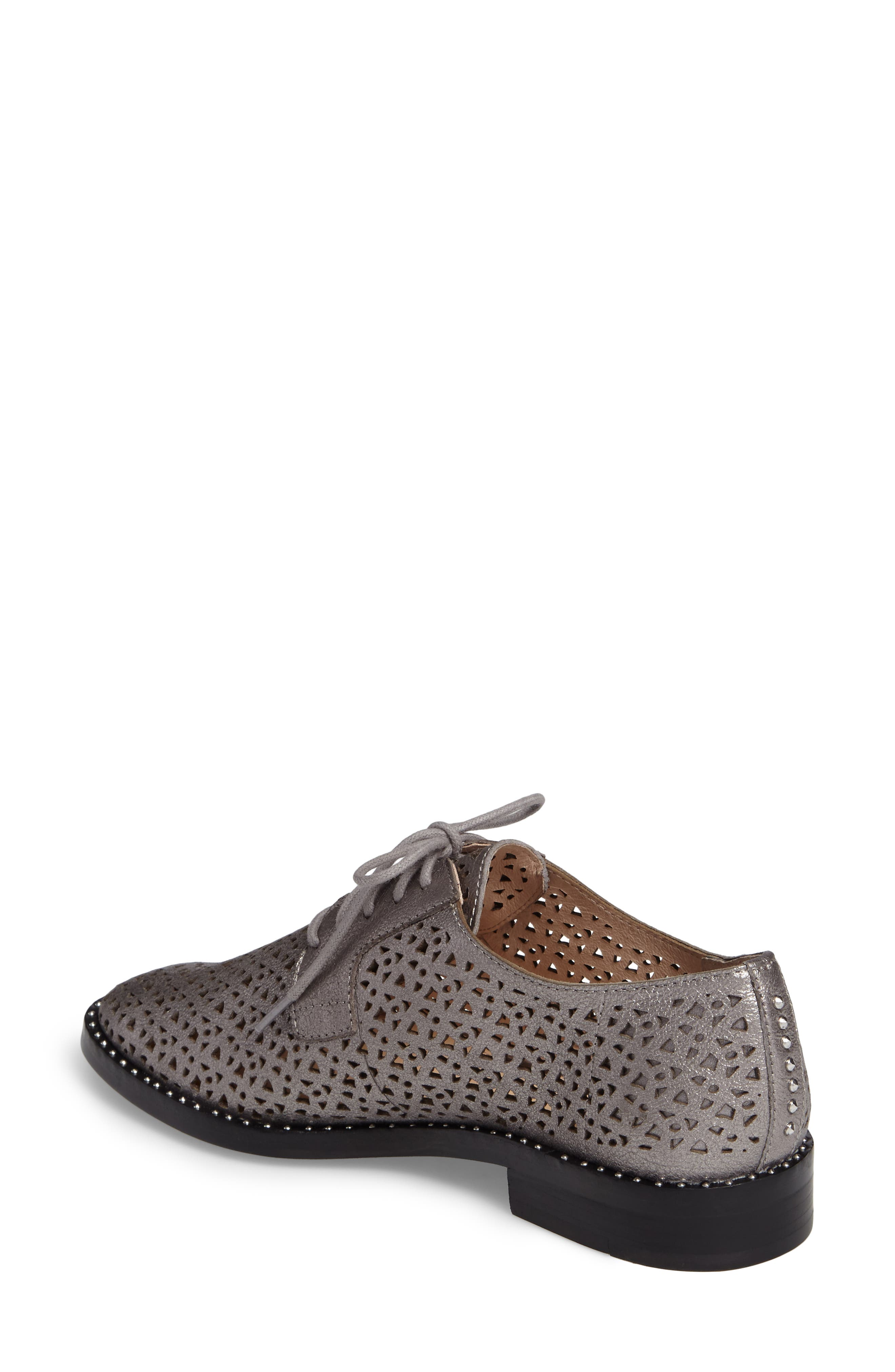 Lesta Geo Perforated Oxford,                             Alternate thumbnail 8, color,