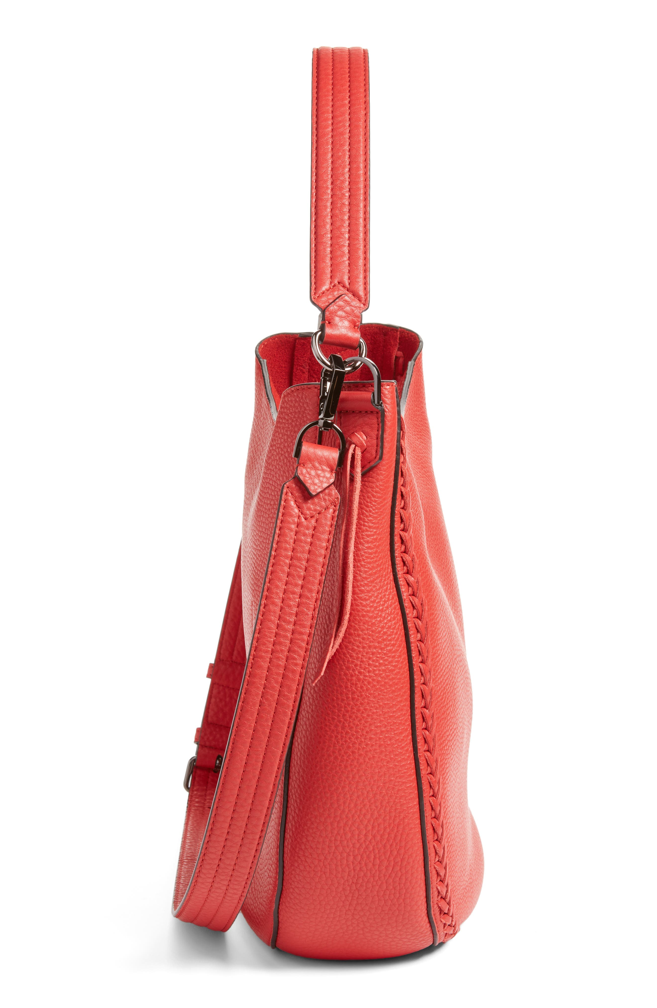 Unlined Convertible Whipstitch Hobo,                             Alternate thumbnail 28, color,