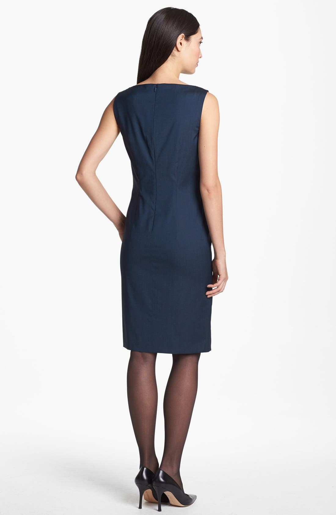 BOSS,                             HUGO BOSS 'Dinoma 1' Sheath Dress,                             Alternate thumbnail 4, color,                             441