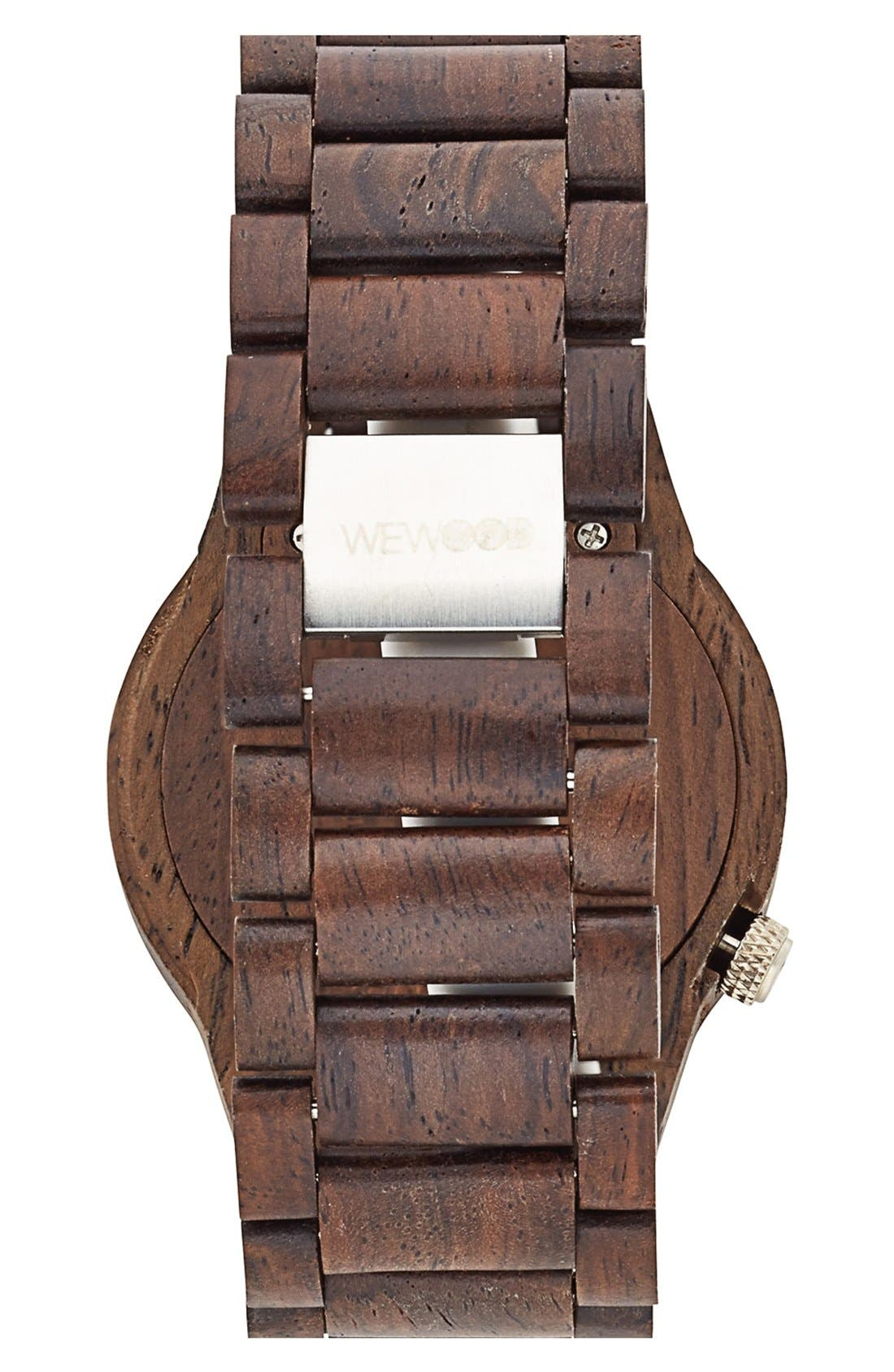 'Alpha' Wood Bracelet Watch, 46mm,                             Alternate thumbnail 2, color,                             200