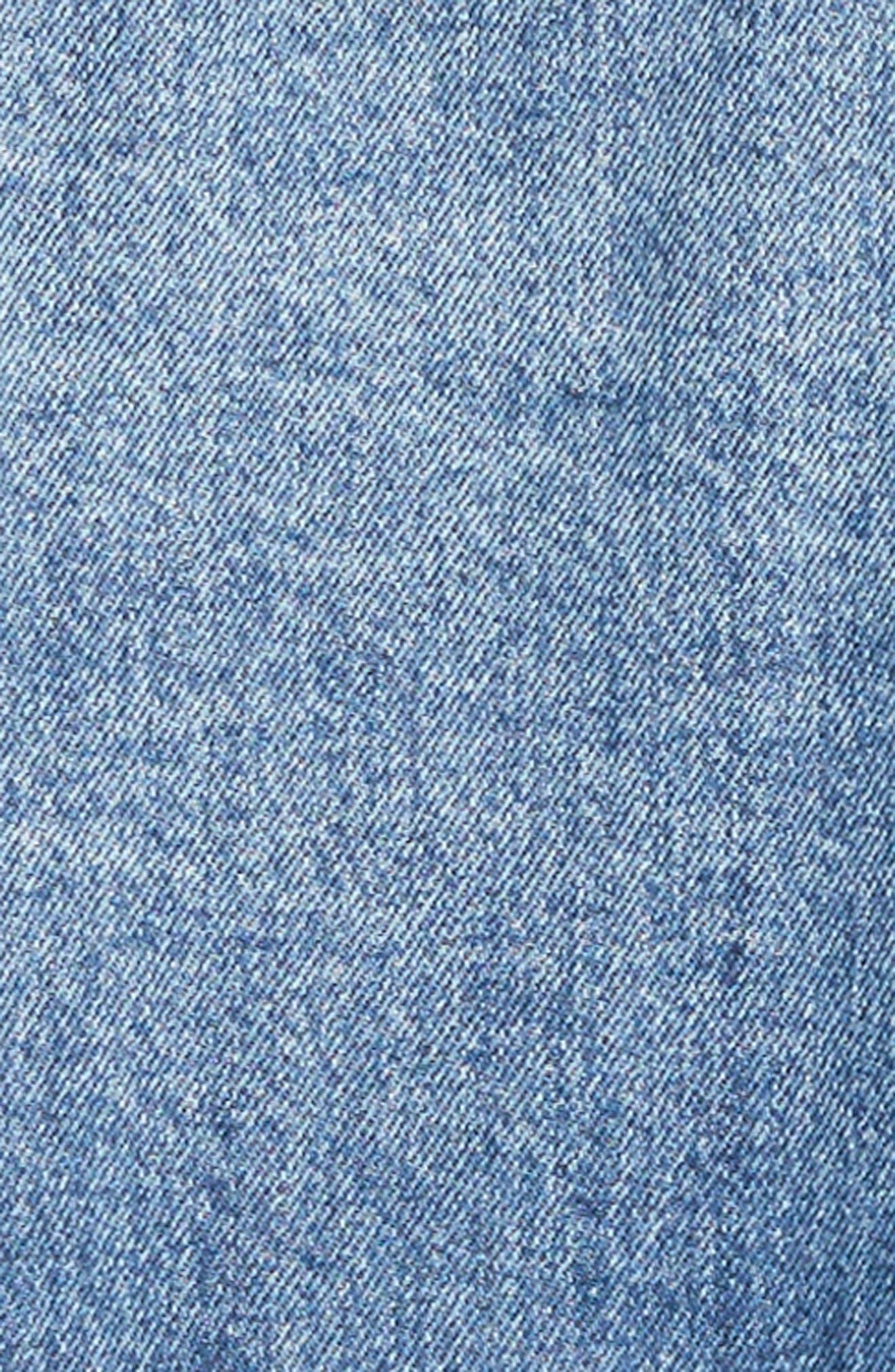 Kremi Crop Denim Jacket,                             Alternate thumbnail 5, color,                             400