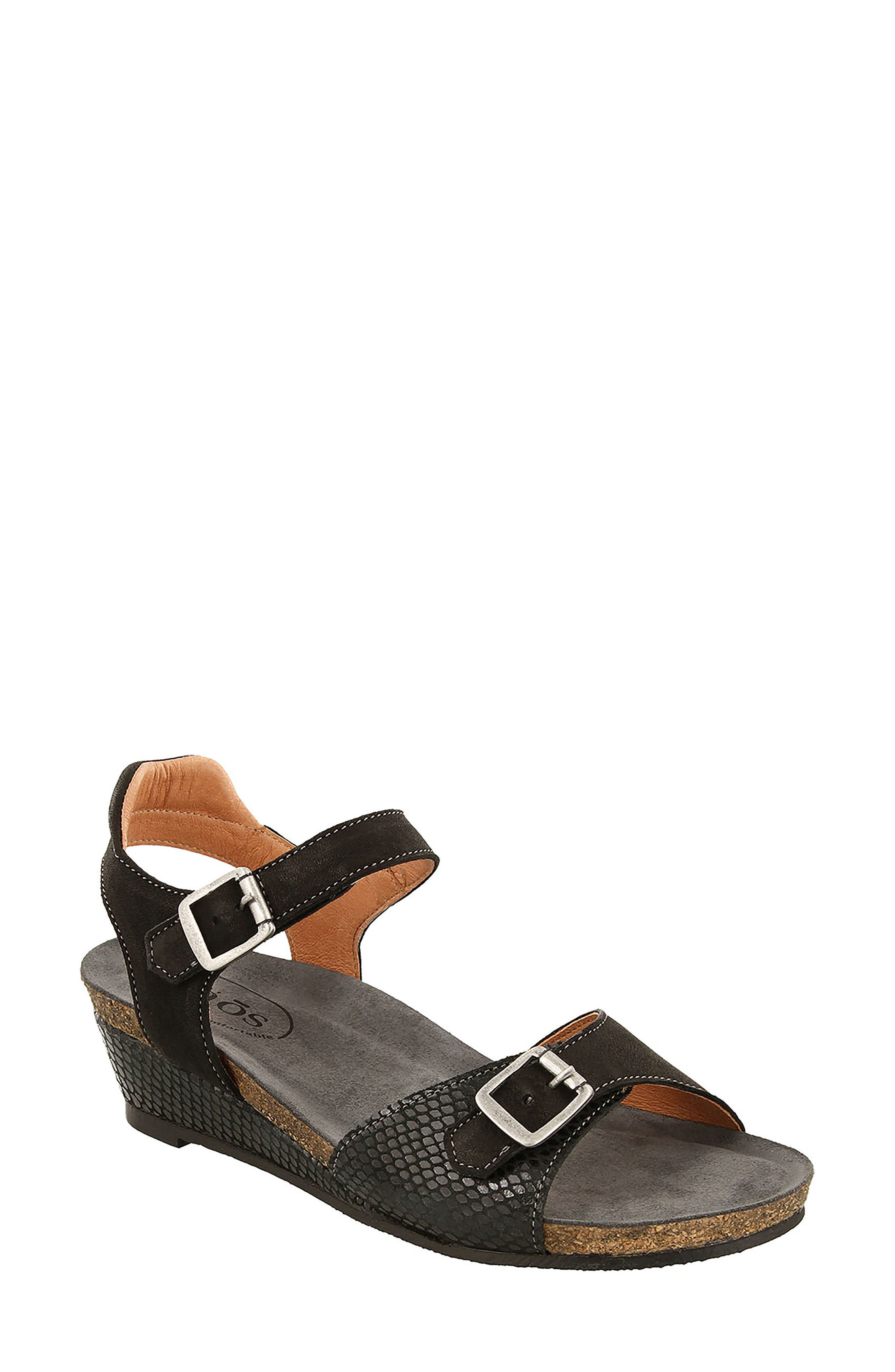 Traveler Wedge Sandal,                             Main thumbnail 1, color,                             002