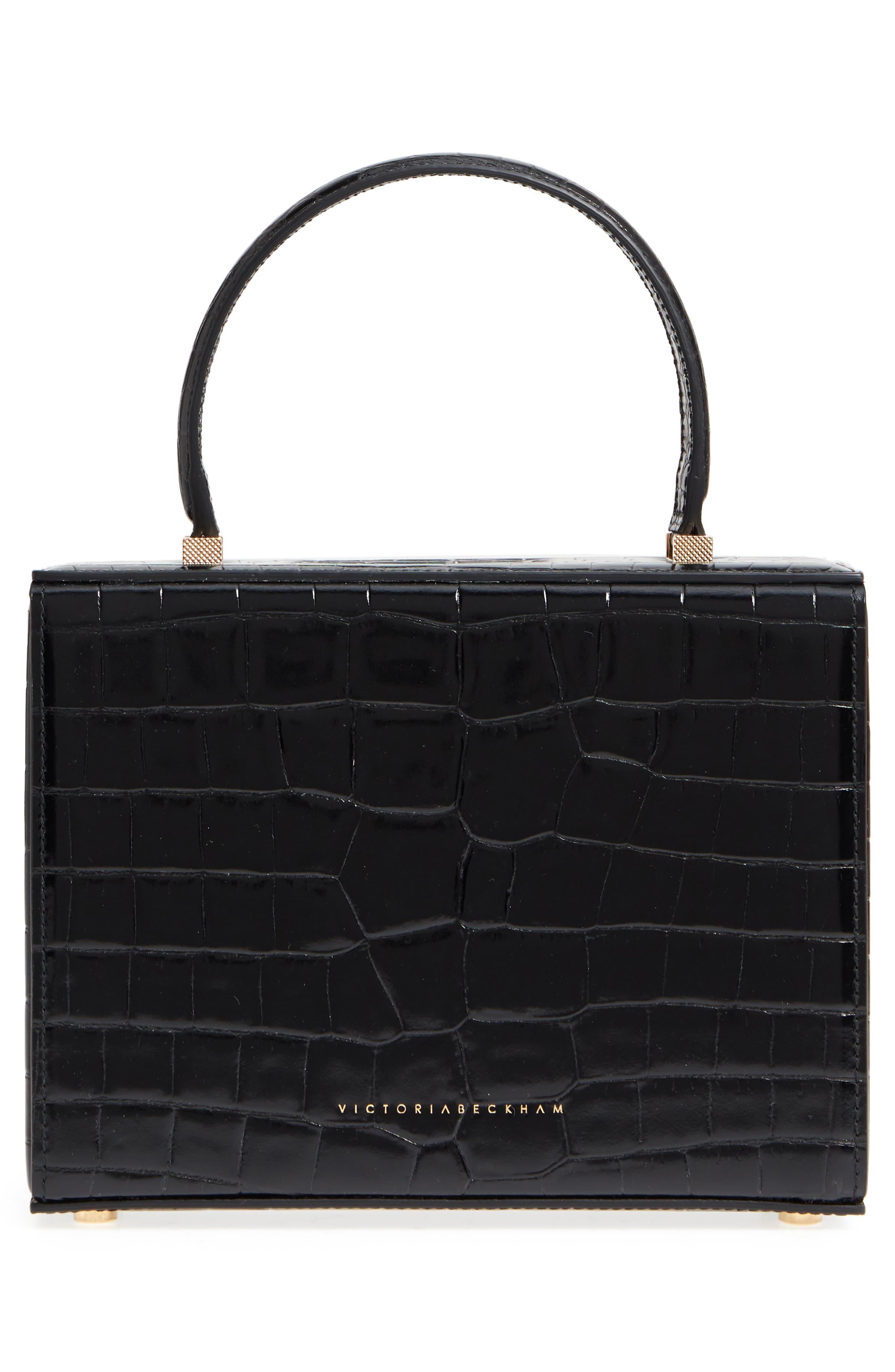 Mini Vanity Top Handle Box Bag,                             Alternate thumbnail 3, color,                             001