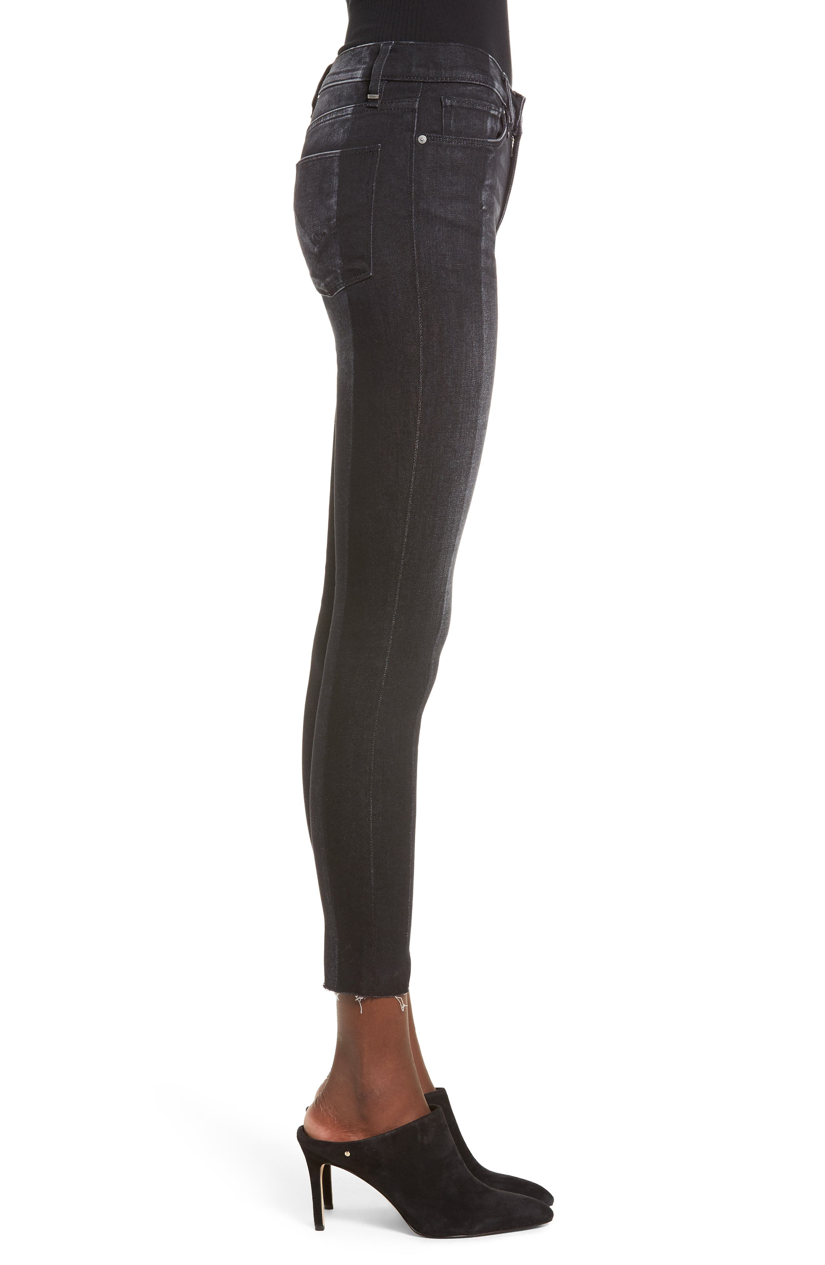 Nico Step Hem Crop Super Skinny Jeans,                             Alternate thumbnail 3, color,                             020