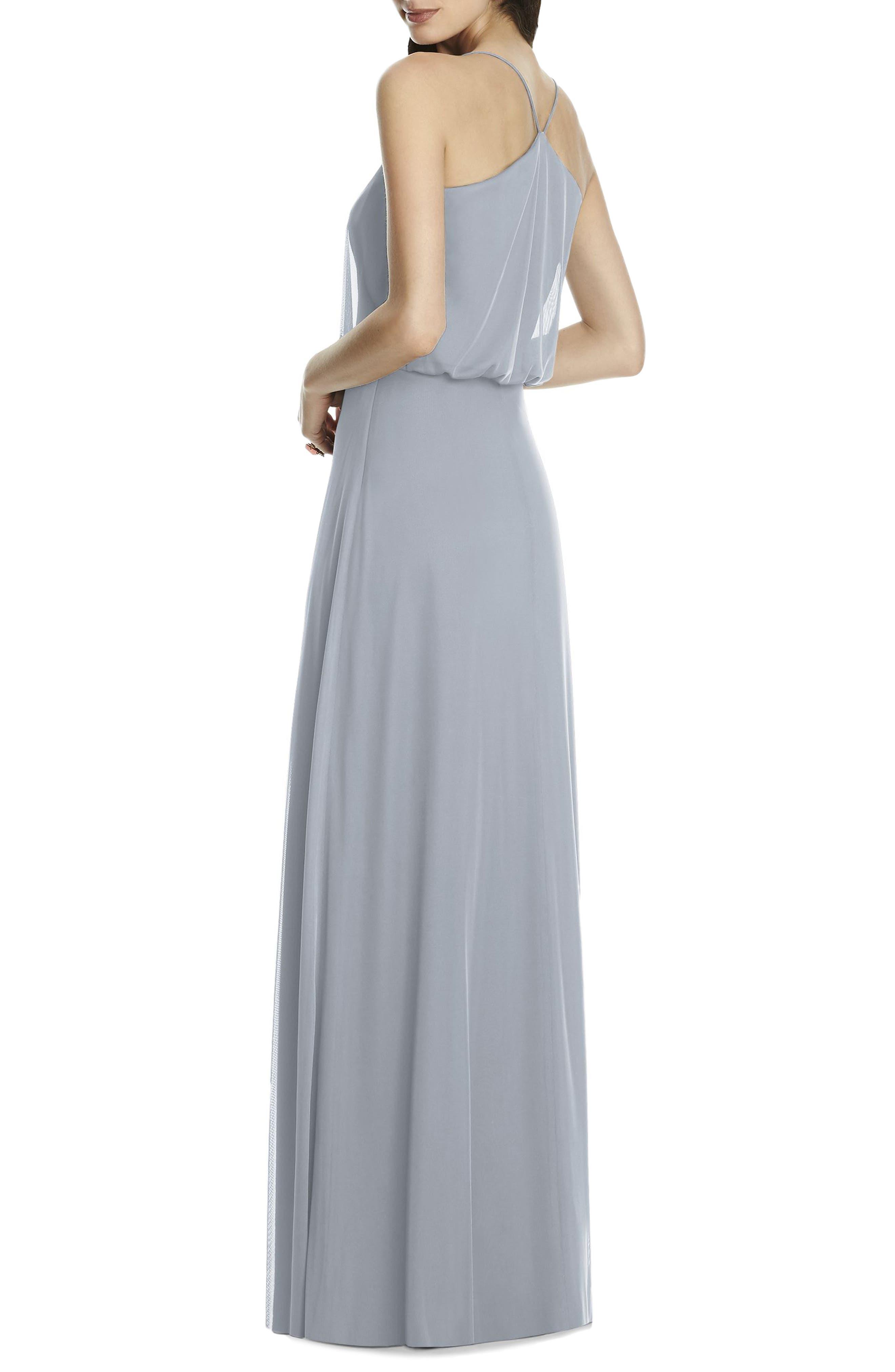 Chiffon Blouson Gown,                             Alternate thumbnail 5, color,