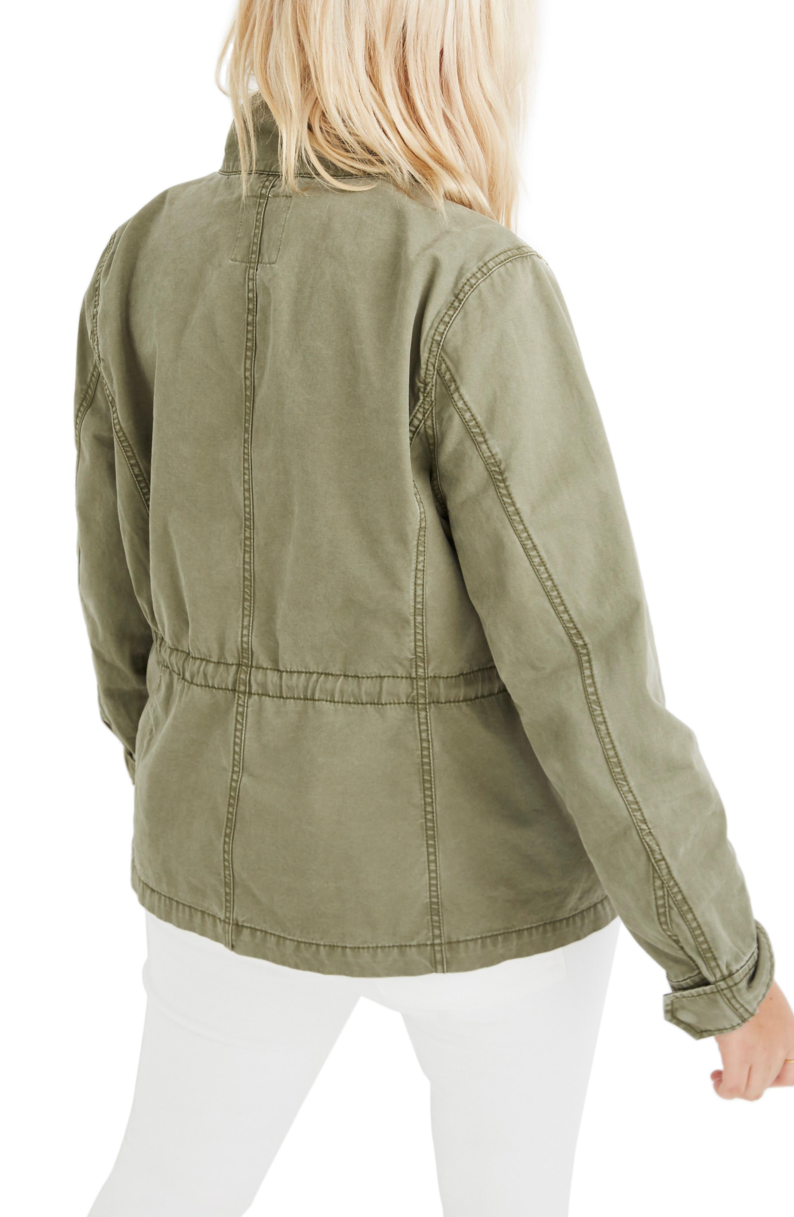 MADEWELL,                             Surplus Cotton Jacket,                             Alternate thumbnail 7, color,                             DESERT OLIVE