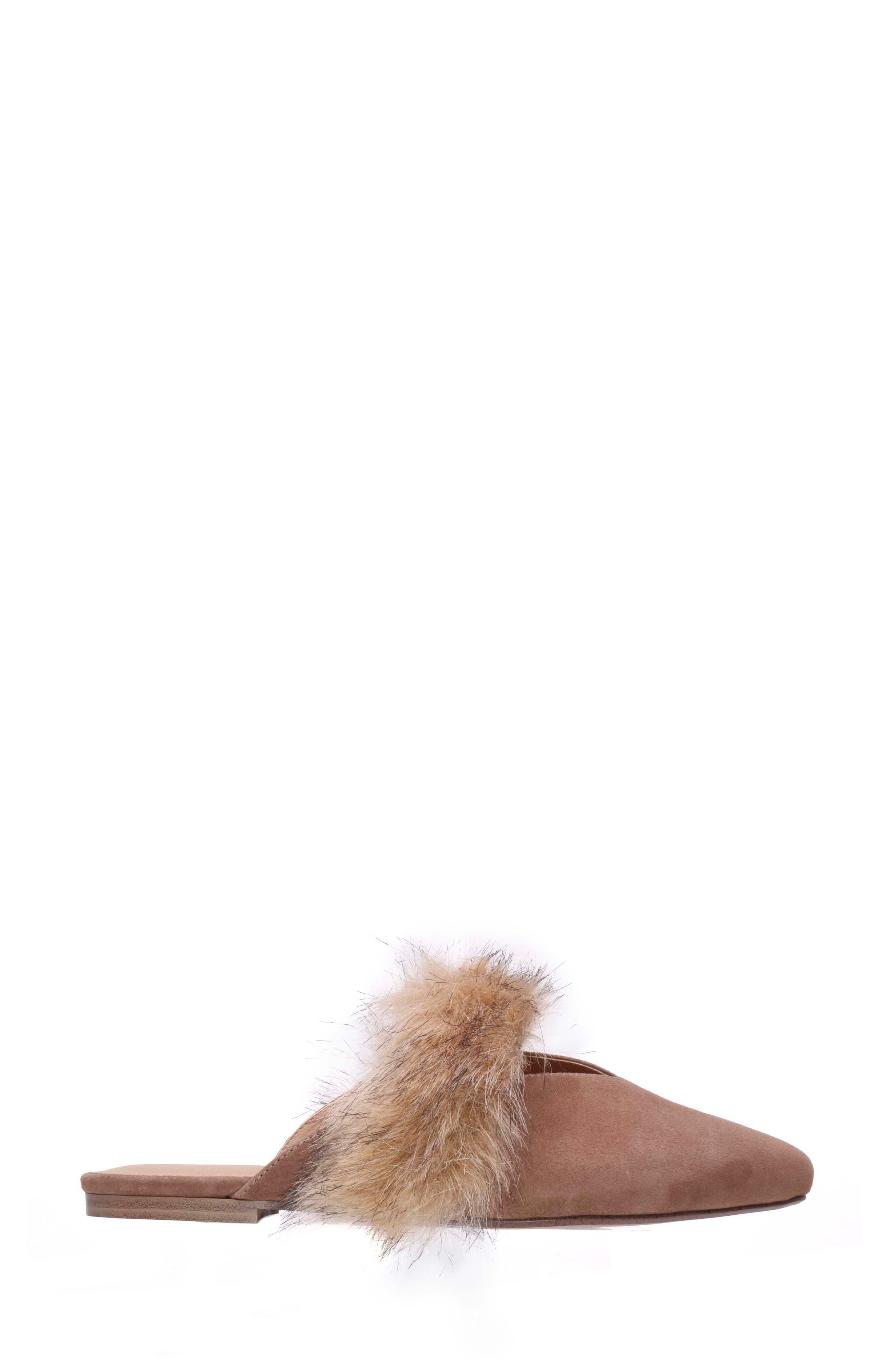 Angelique Faux Fur Mule,                             Alternate thumbnail 3, color,                             200