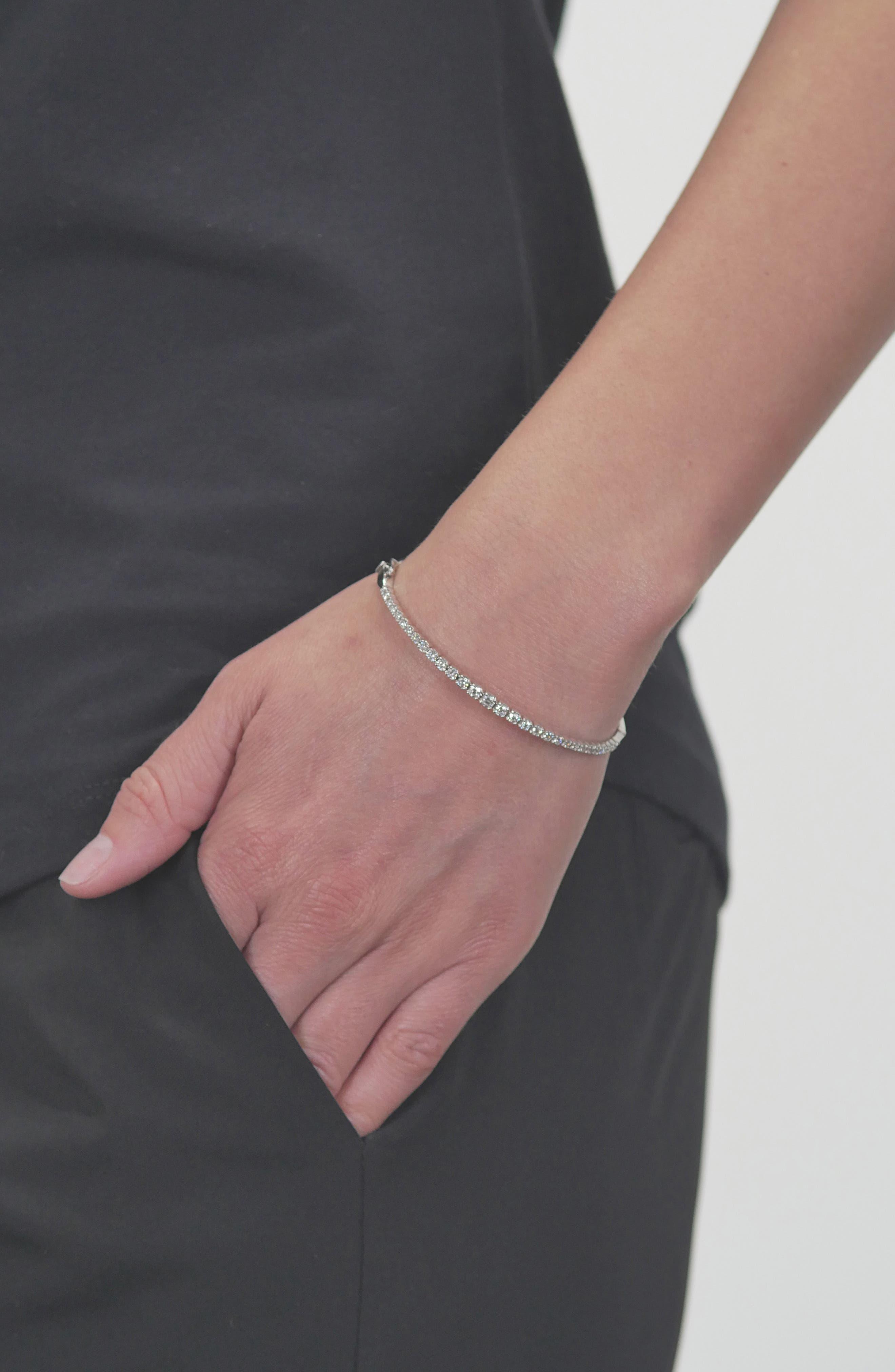 Bardot Diamond Bracelet,                             Alternate thumbnail 2, color,                             WHITE GOLD/ DIAMOND