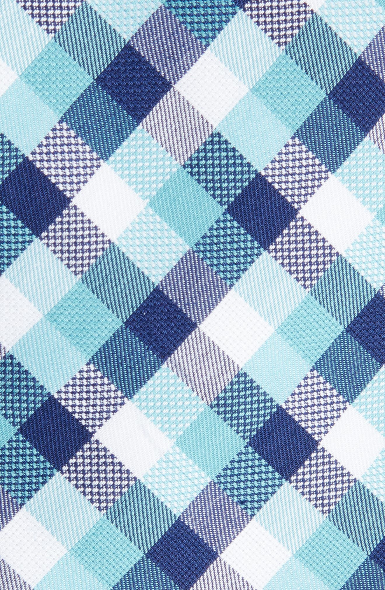 Scott Check Cotton Skinny Tie,                             Alternate thumbnail 8, color,