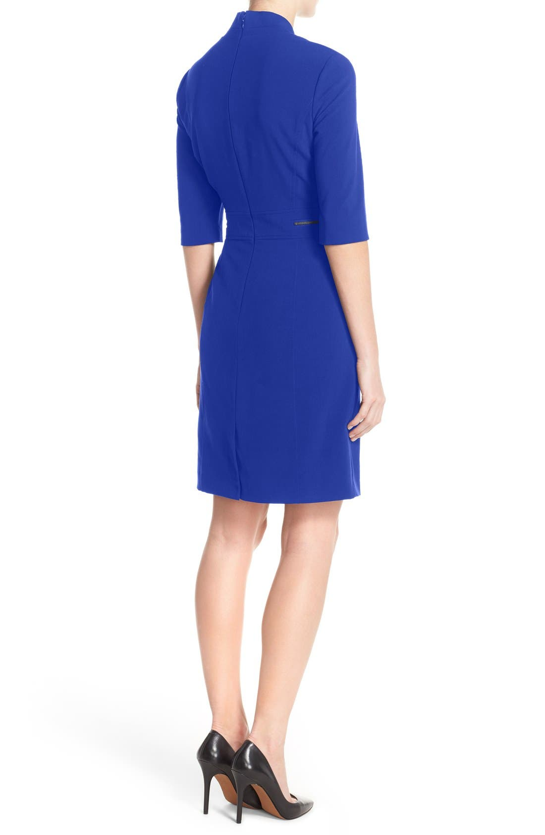 Sheath Dress,                             Alternate thumbnail 4, color,                             COBALT