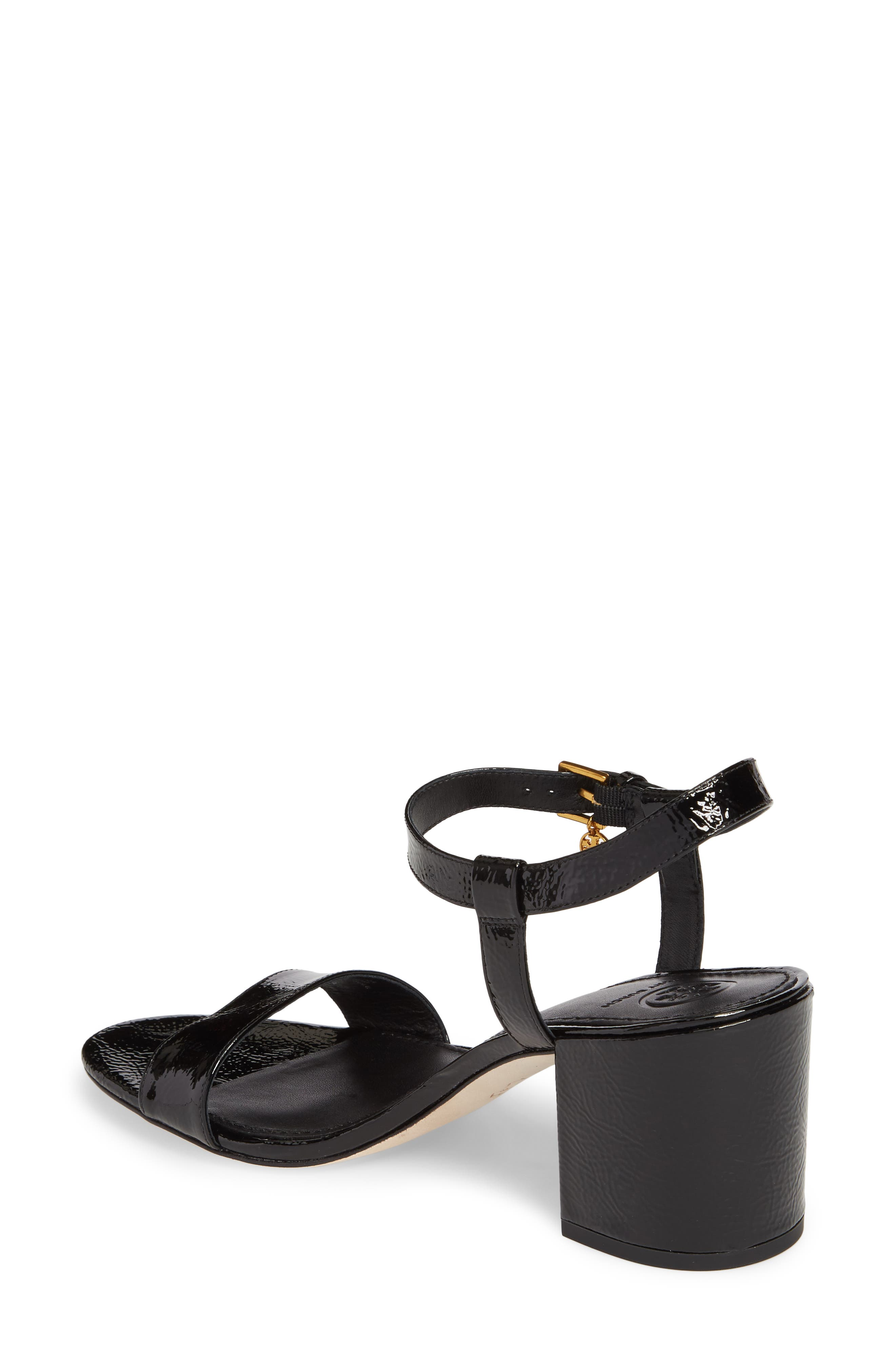 Laurel Ankle Strap Sandal,                             Alternate thumbnail 2, color,                             BLACK