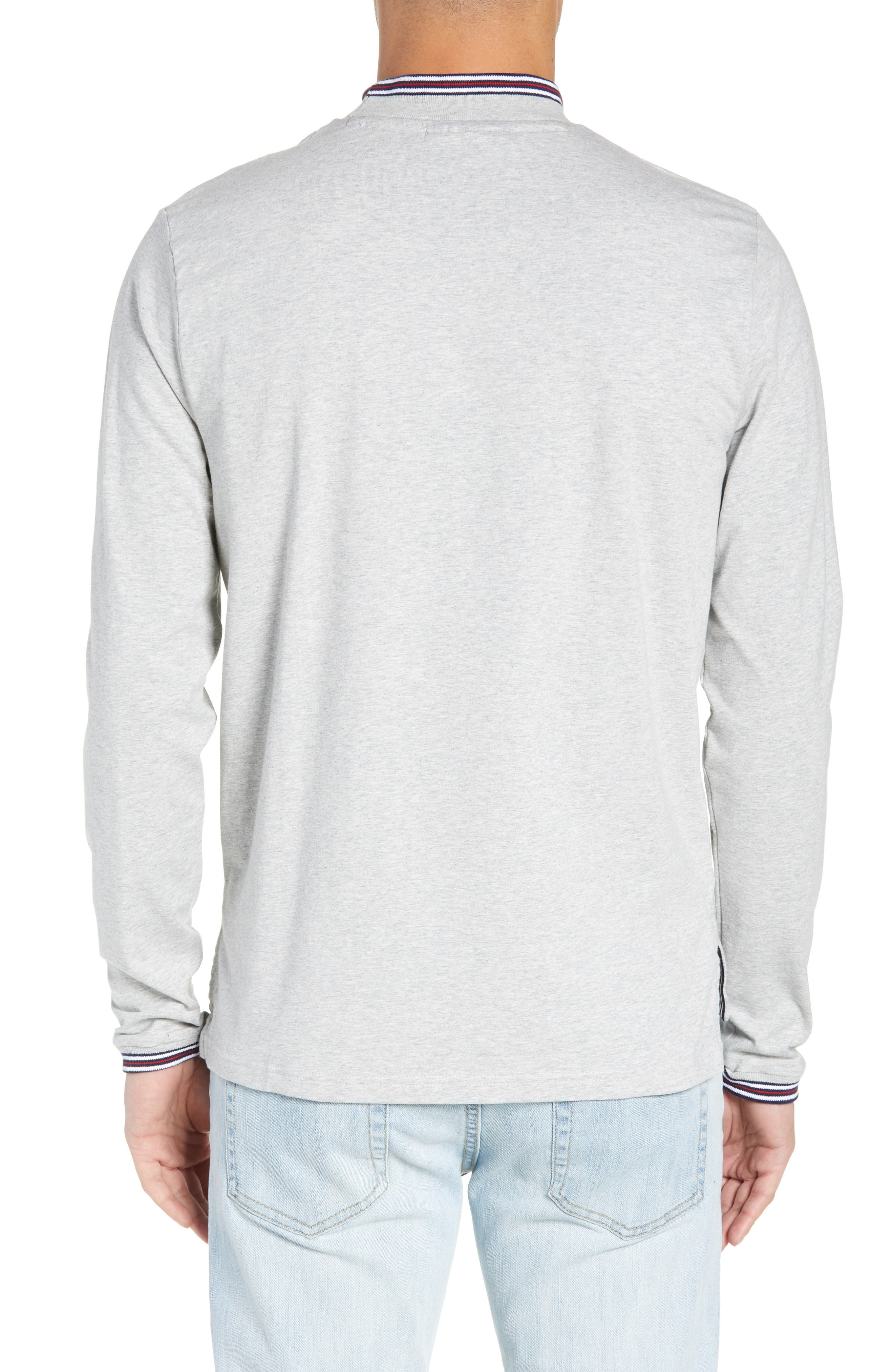 Quentin Mock Neck T-Shirt,                             Alternate thumbnail 2, color,                             LIGHT GREY